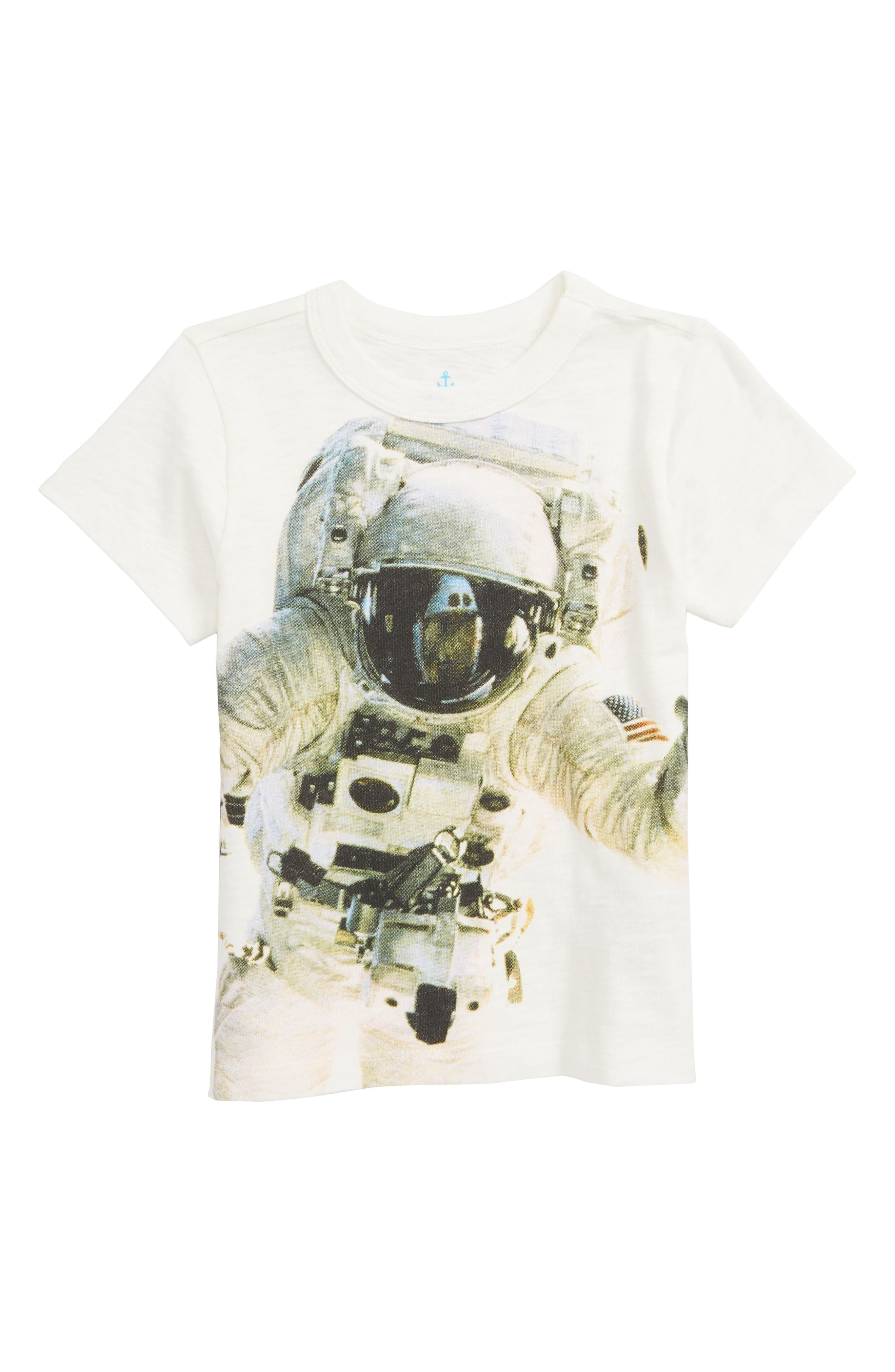 CREWCUTS BY J.CREW Astronaut Graphic T-Shirt, Main, color, PLASTER WHITE