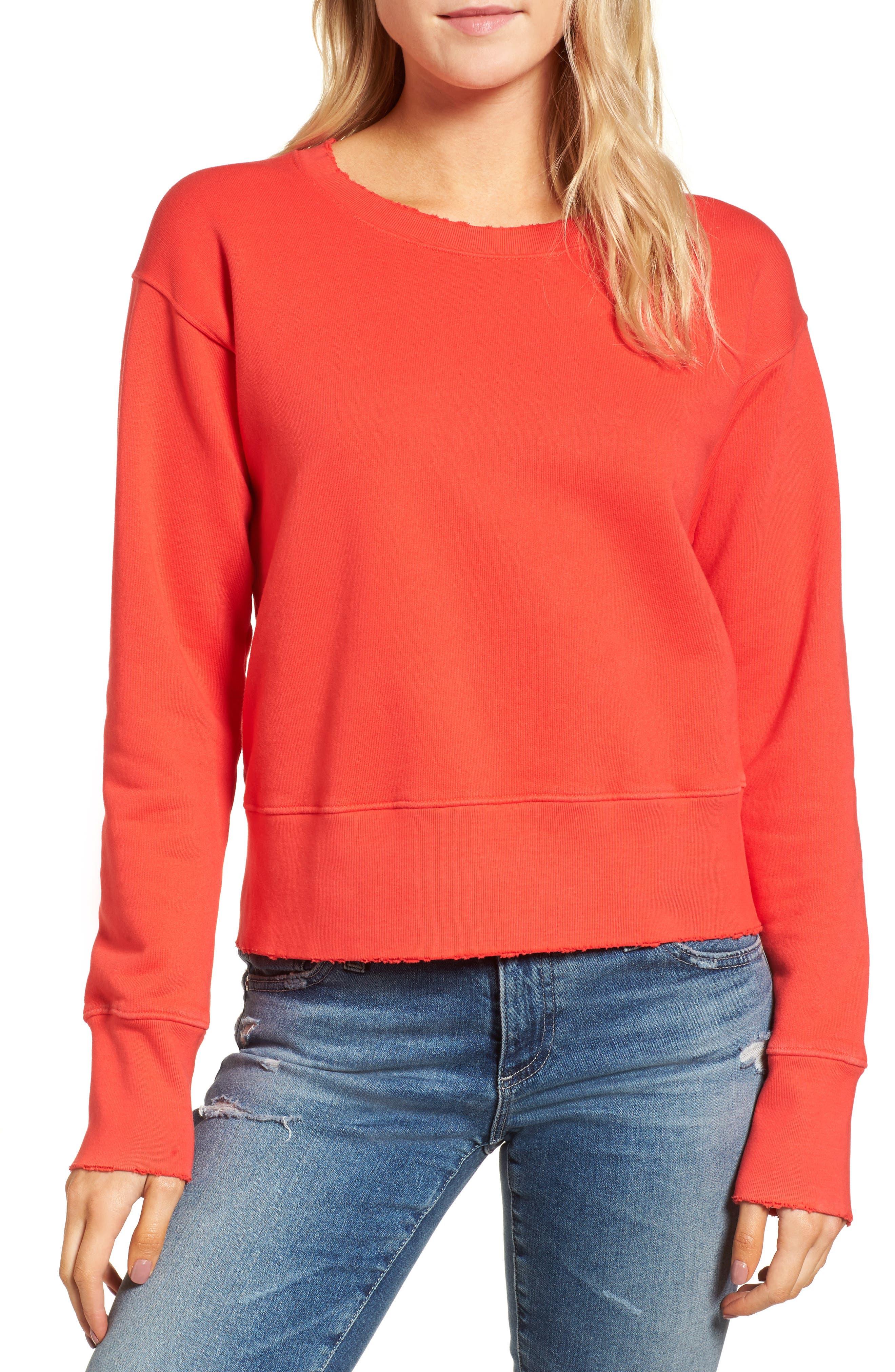 FRANK & EILEEN TEE LAB,                             Distressed Sweatshirt,                             Main thumbnail 1, color,                             624
