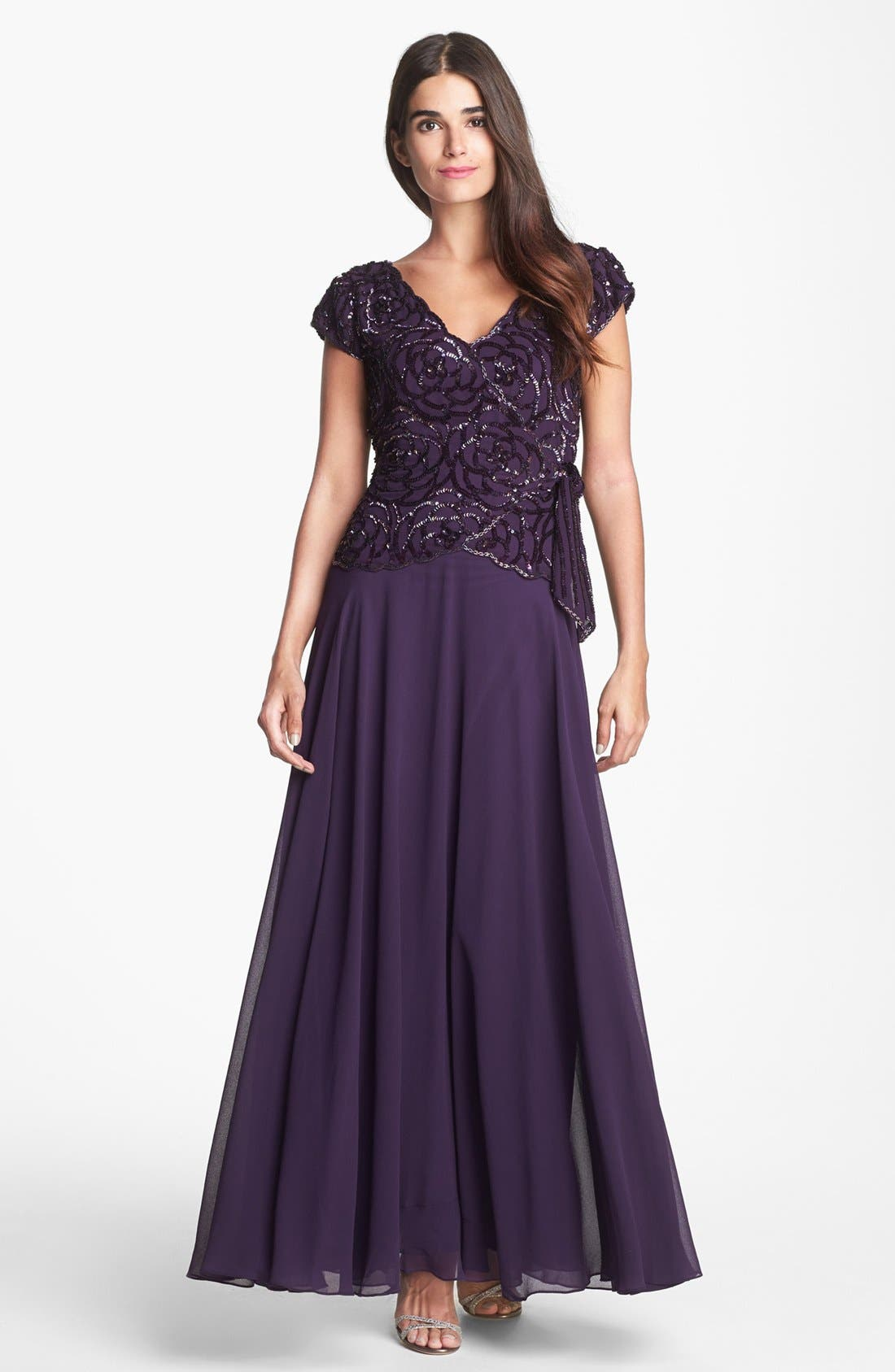 Embellished Gown,                             Main thumbnail 1, color,                             516