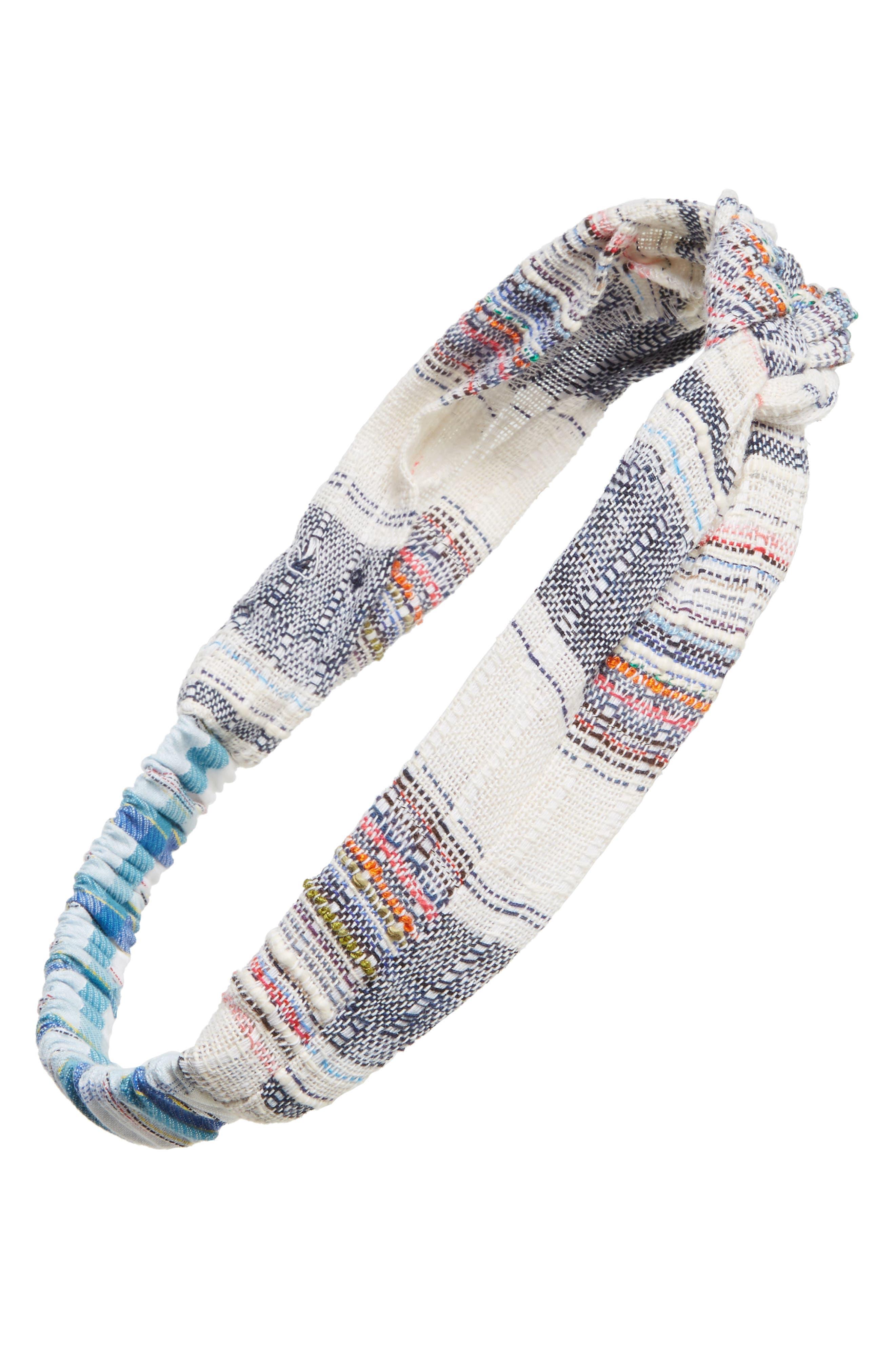 Textured Plaid Head Wrap,                             Main thumbnail 1, color,                             650