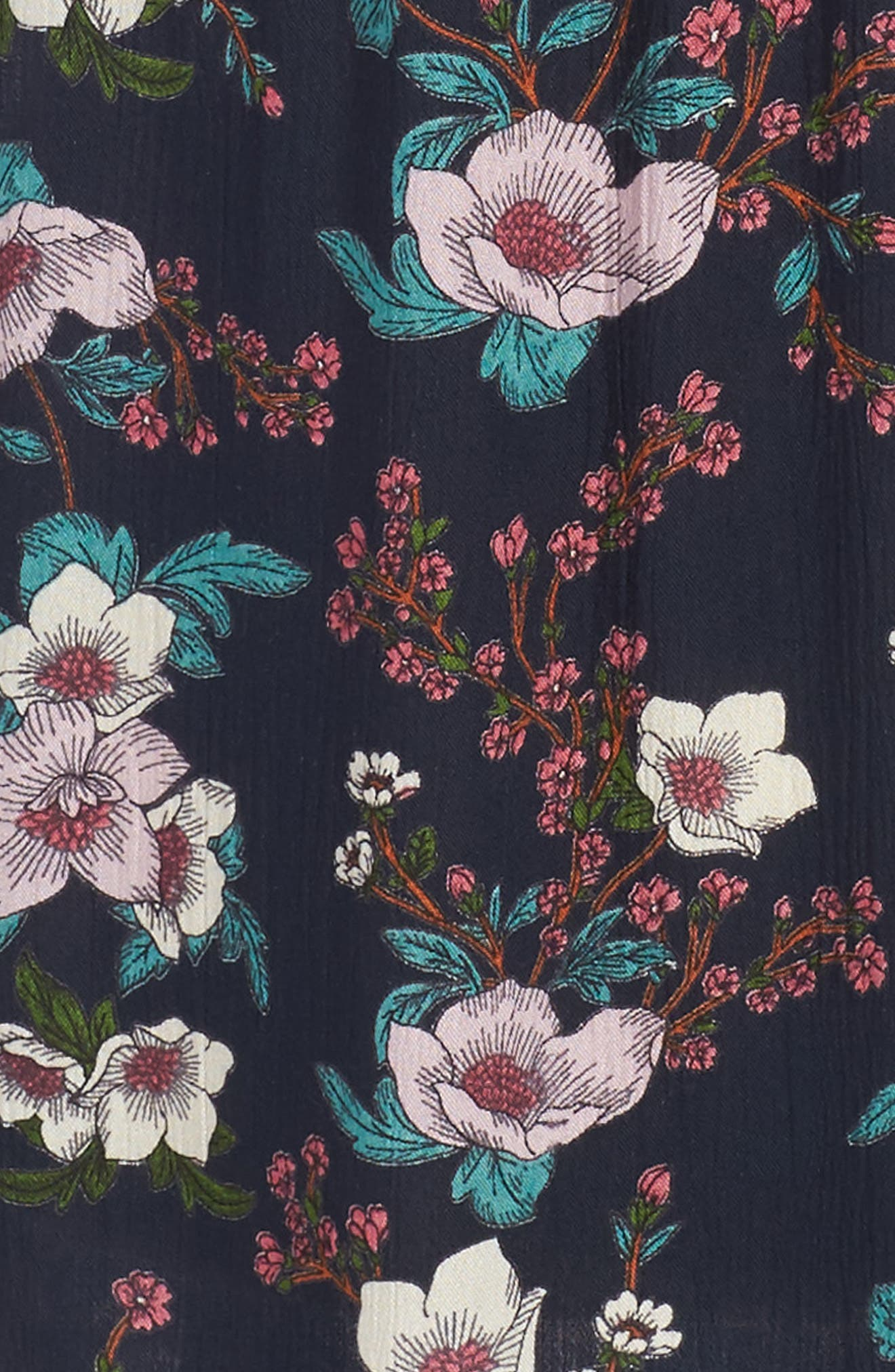 Zoe & Rose Crochet Inset Floral Dress,                             Alternate thumbnail 3, color,                             499