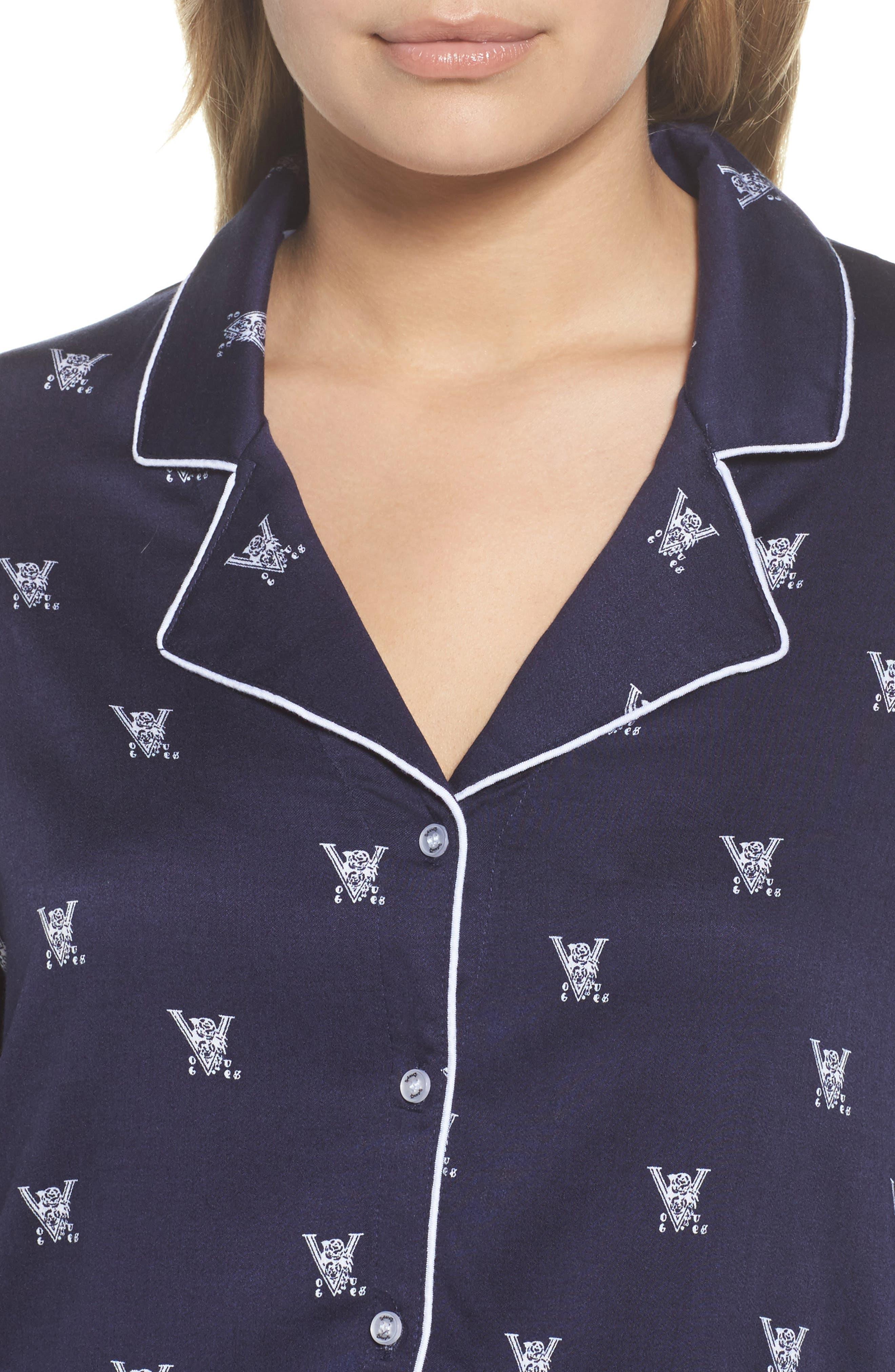 Notch Collar Pajamas,                             Alternate thumbnail 4, color,                             400