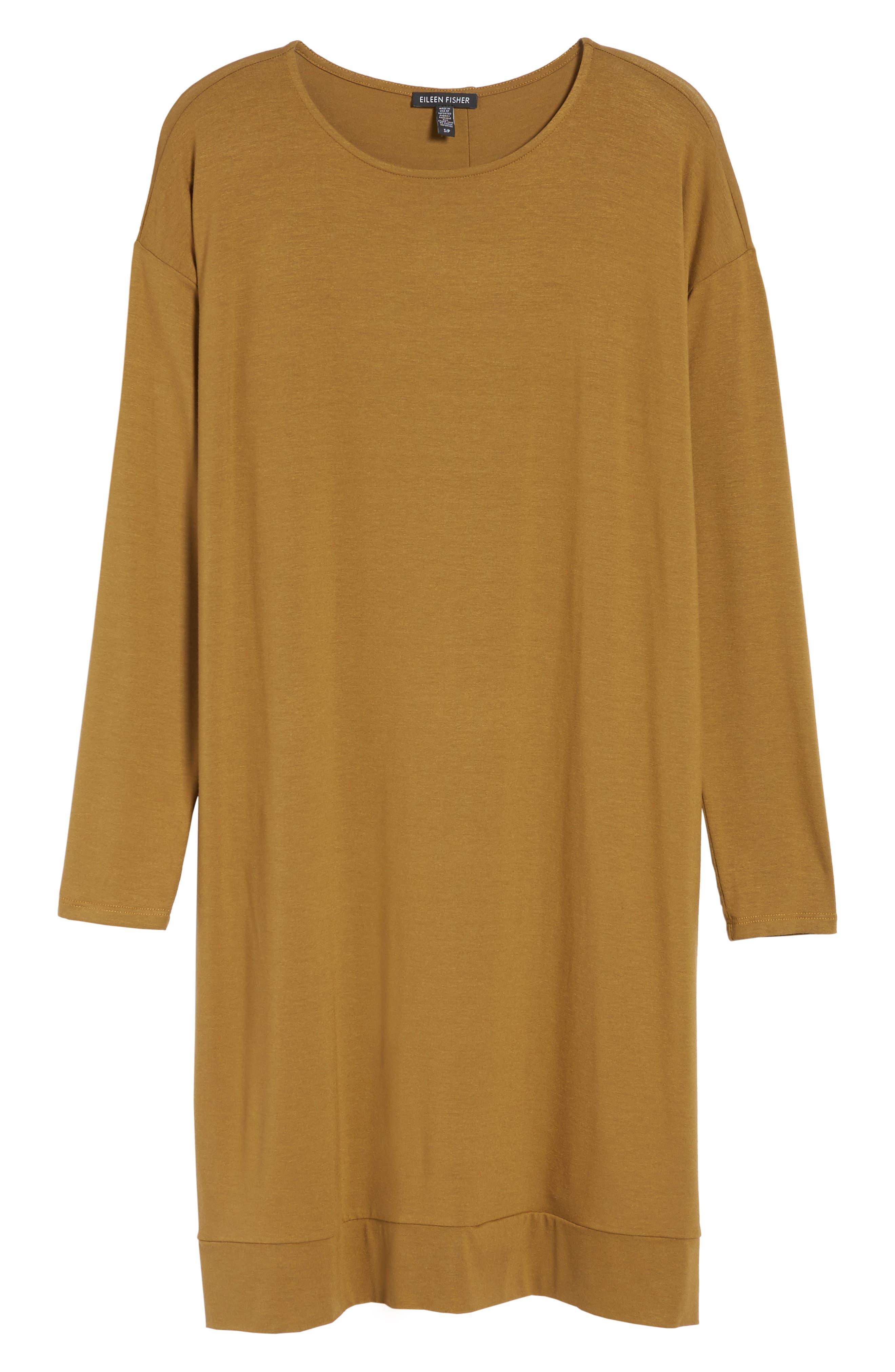 Long Sleeve Jersey Shift Dress,                             Alternate thumbnail 12, color,