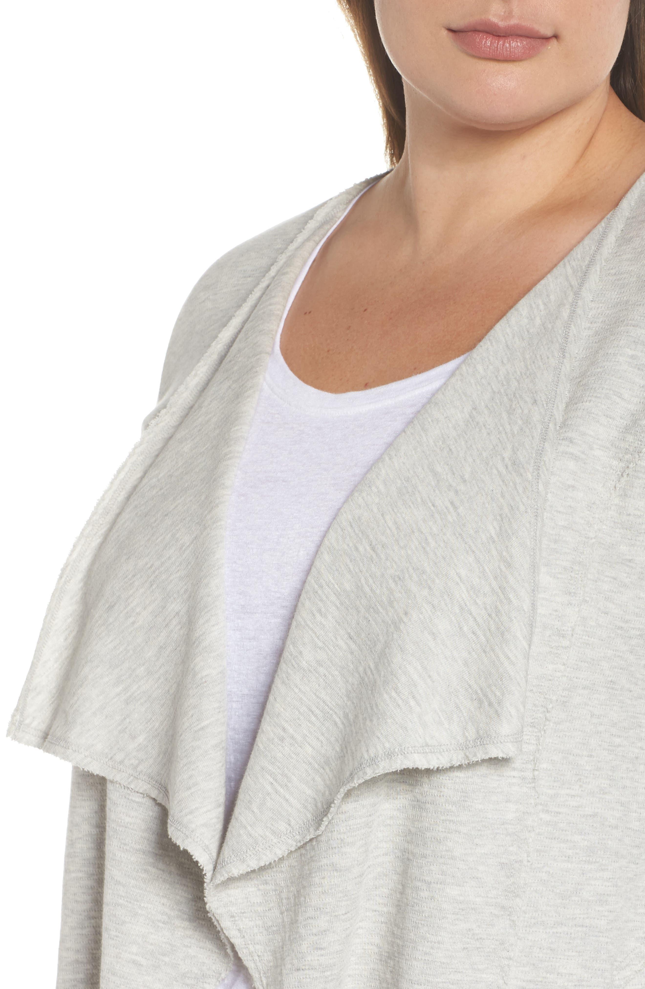 Knit Drape Jacket,                             Alternate thumbnail 4, color,                             050