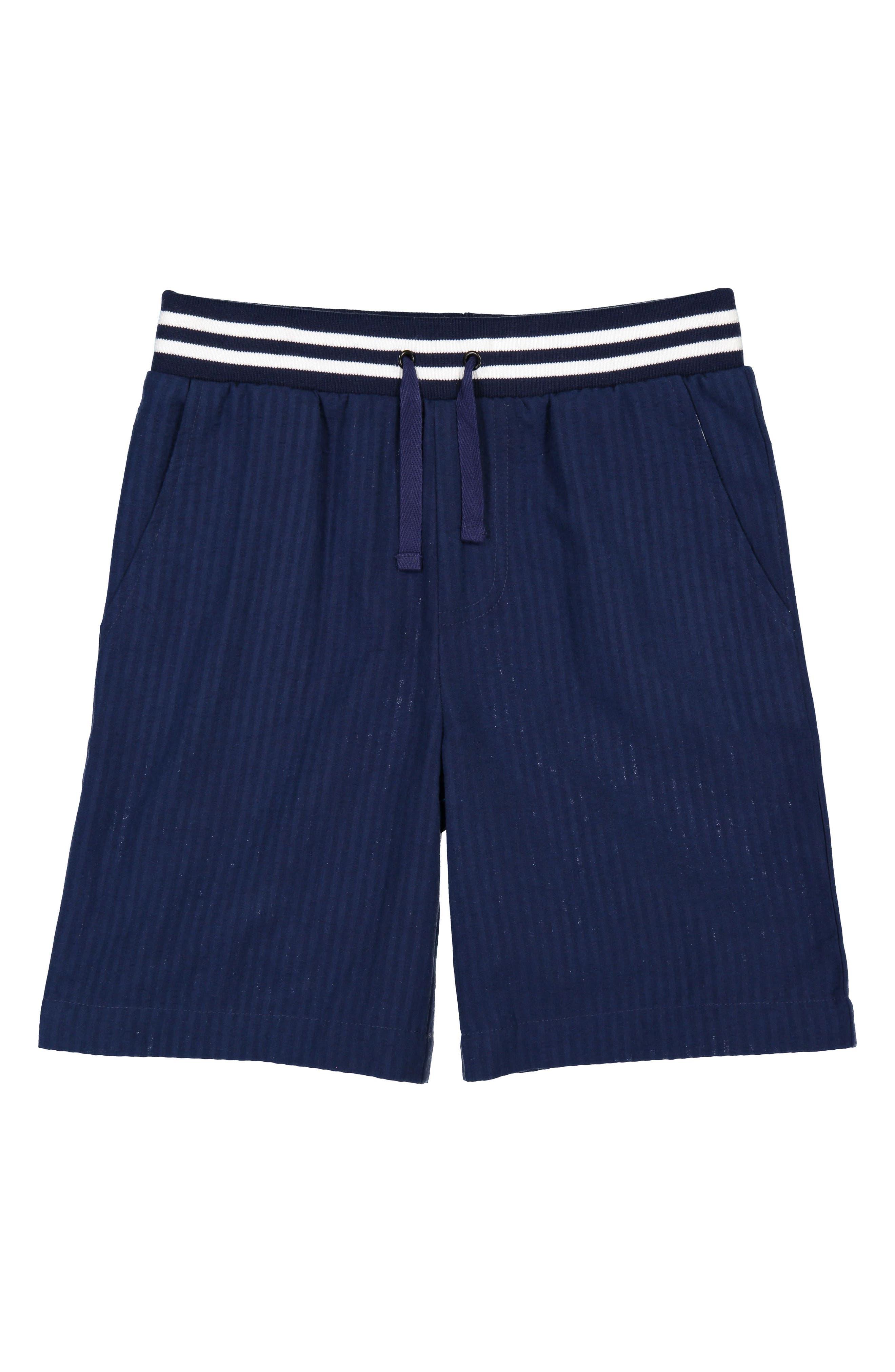 Seersucker Shorts,                         Main,                         color, NAVY