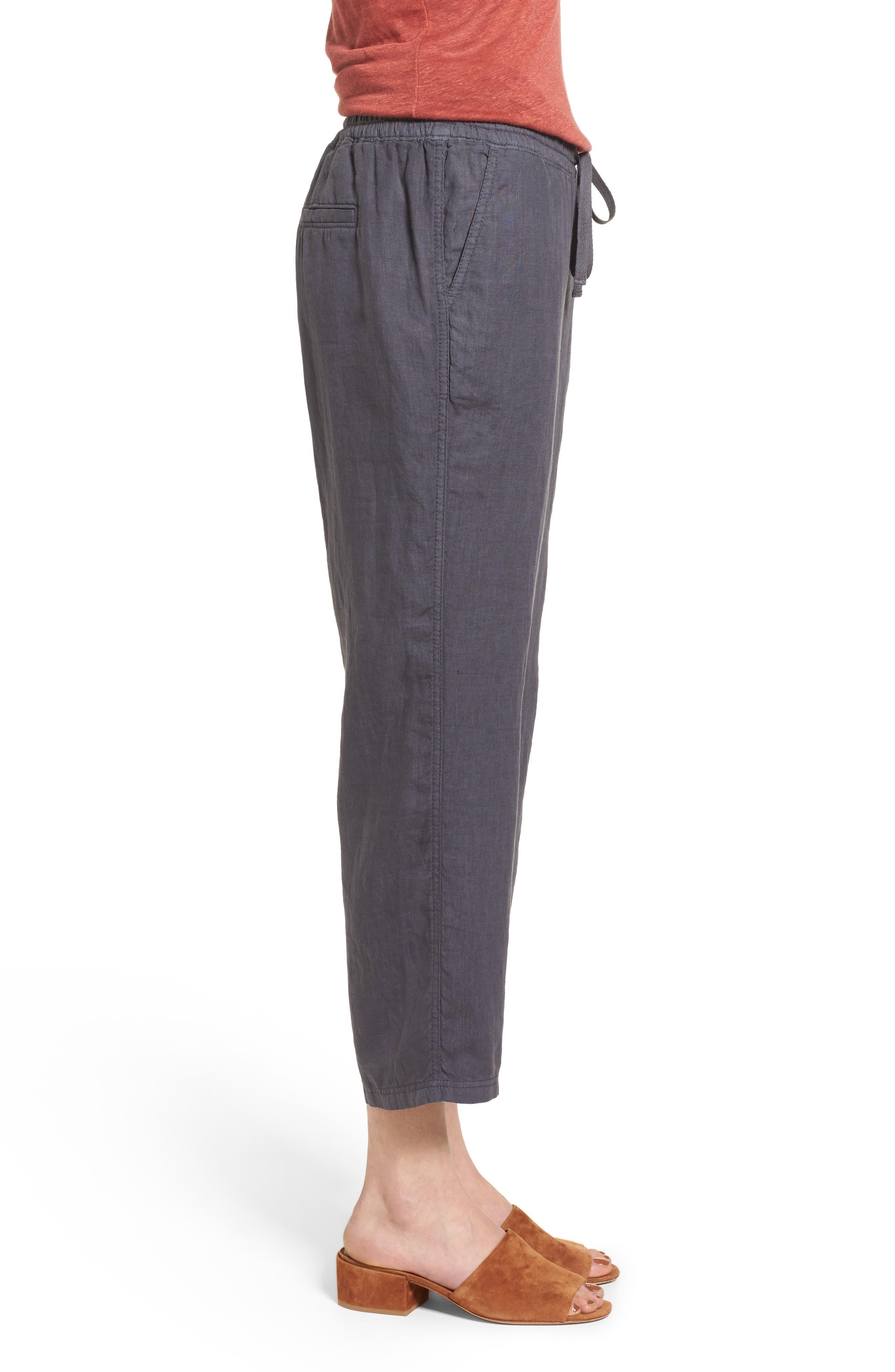 Linen Crop Pants,                             Alternate thumbnail 16, color,