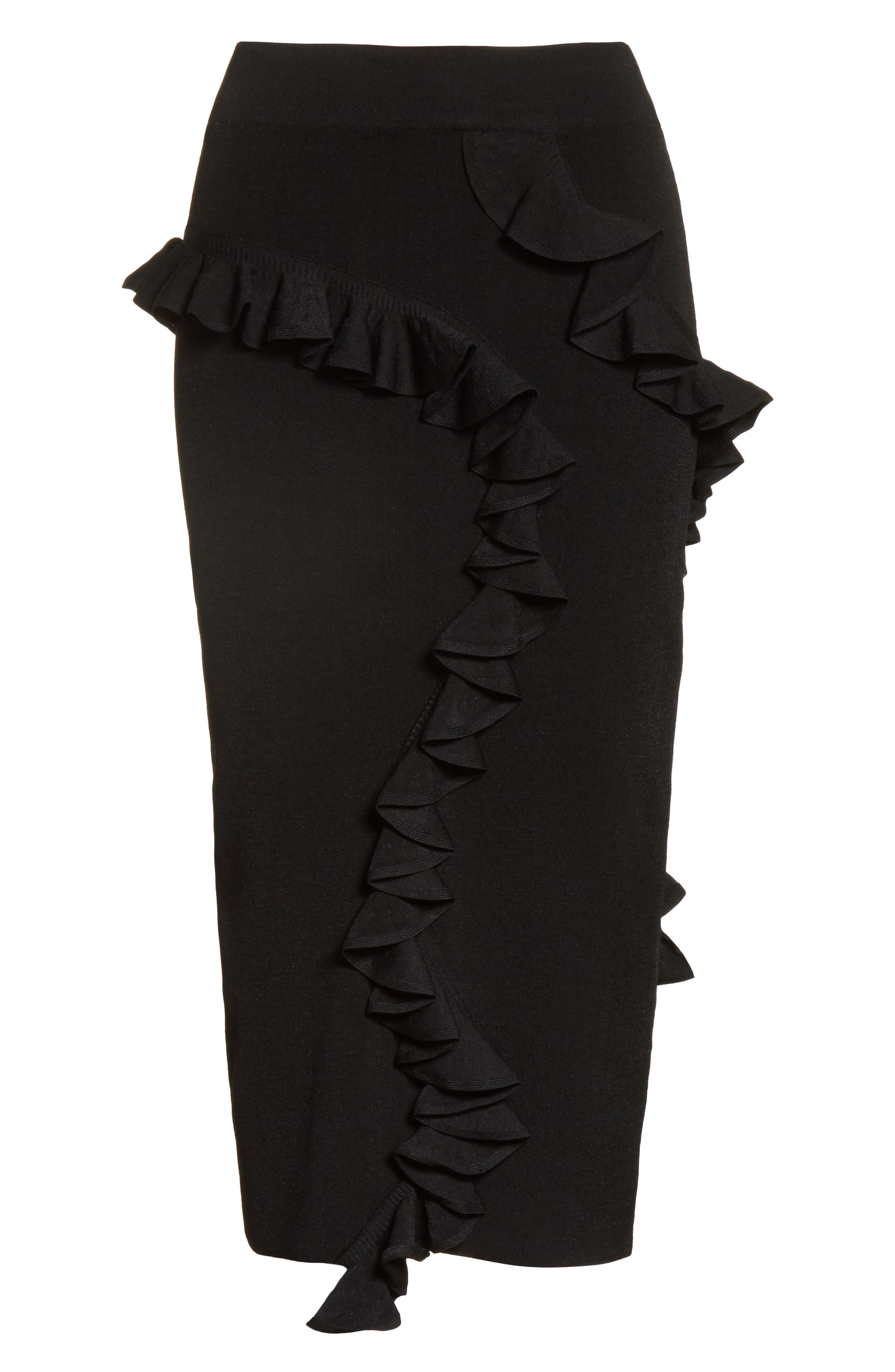 Abstract Ruffle Skirt,                             Alternate thumbnail 6, color,                             001