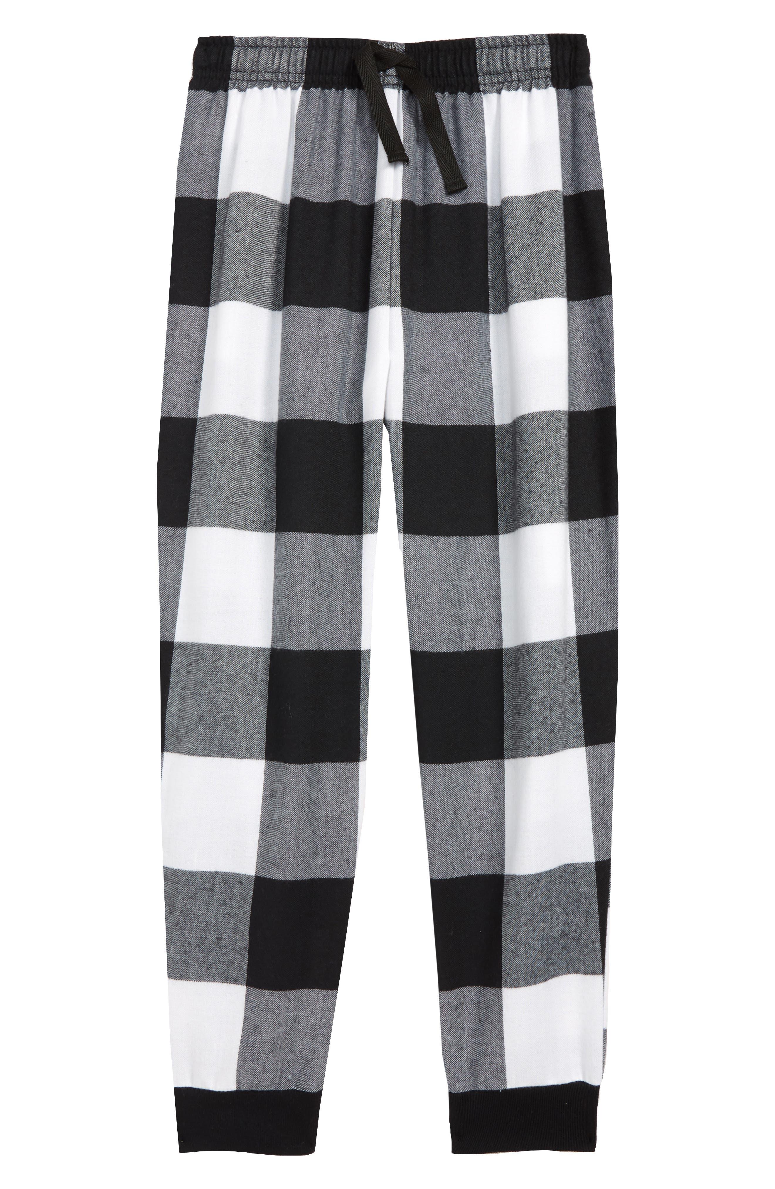 Flannel Jogger Pants,                             Main thumbnail 1, color,                             003