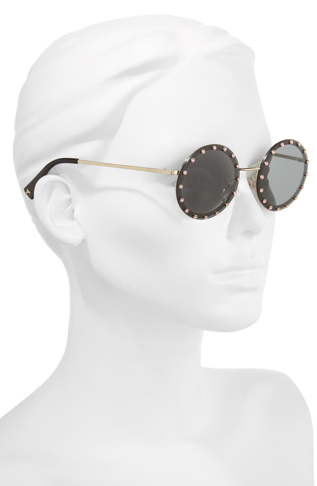 2f0064fdd5 Valentino 52mm Crystal Embellished Round Sunglasses