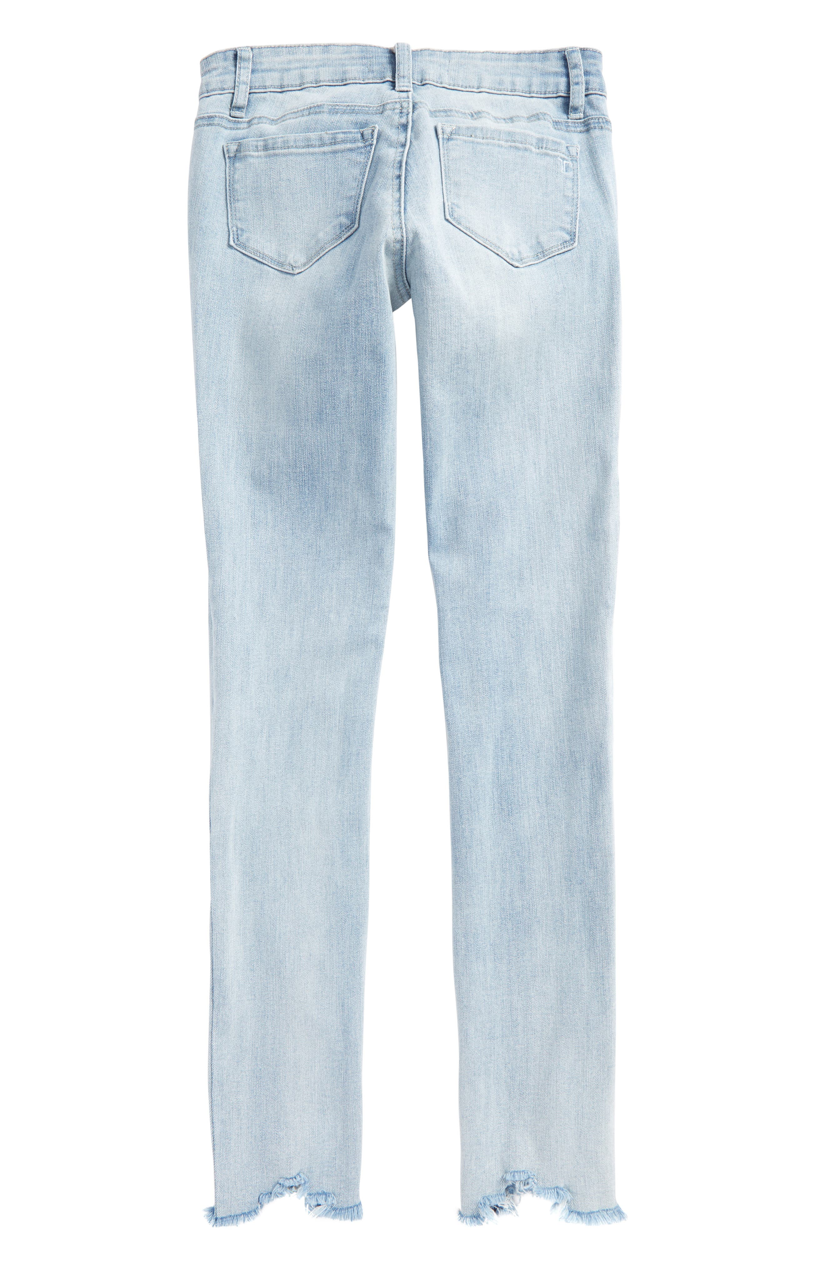 Embroidered Skinny Jeans,                             Alternate thumbnail 2, color,