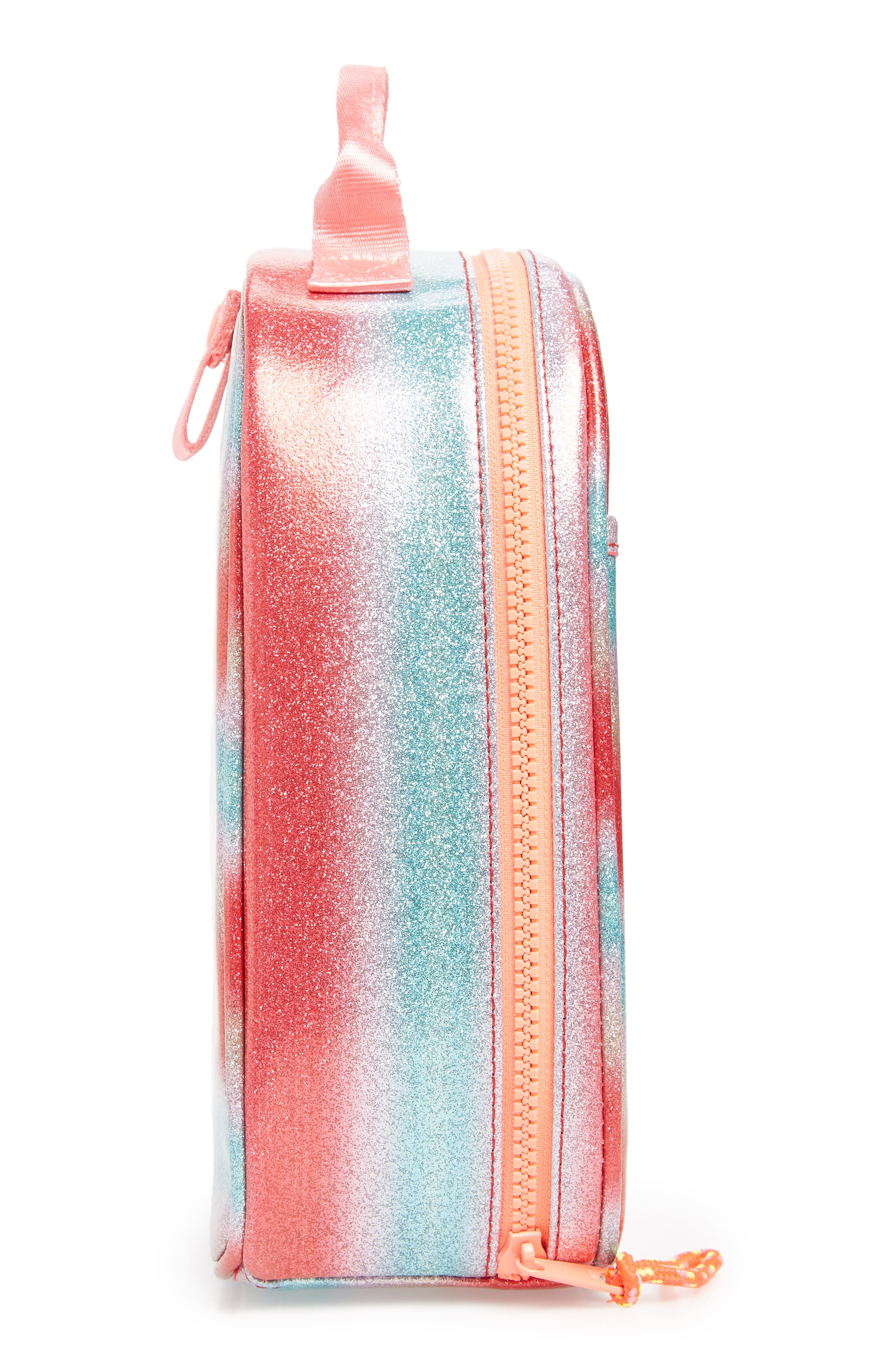 Glitter Stripe Lunch Box,                             Alternate thumbnail 4, color,                             RAINBOW