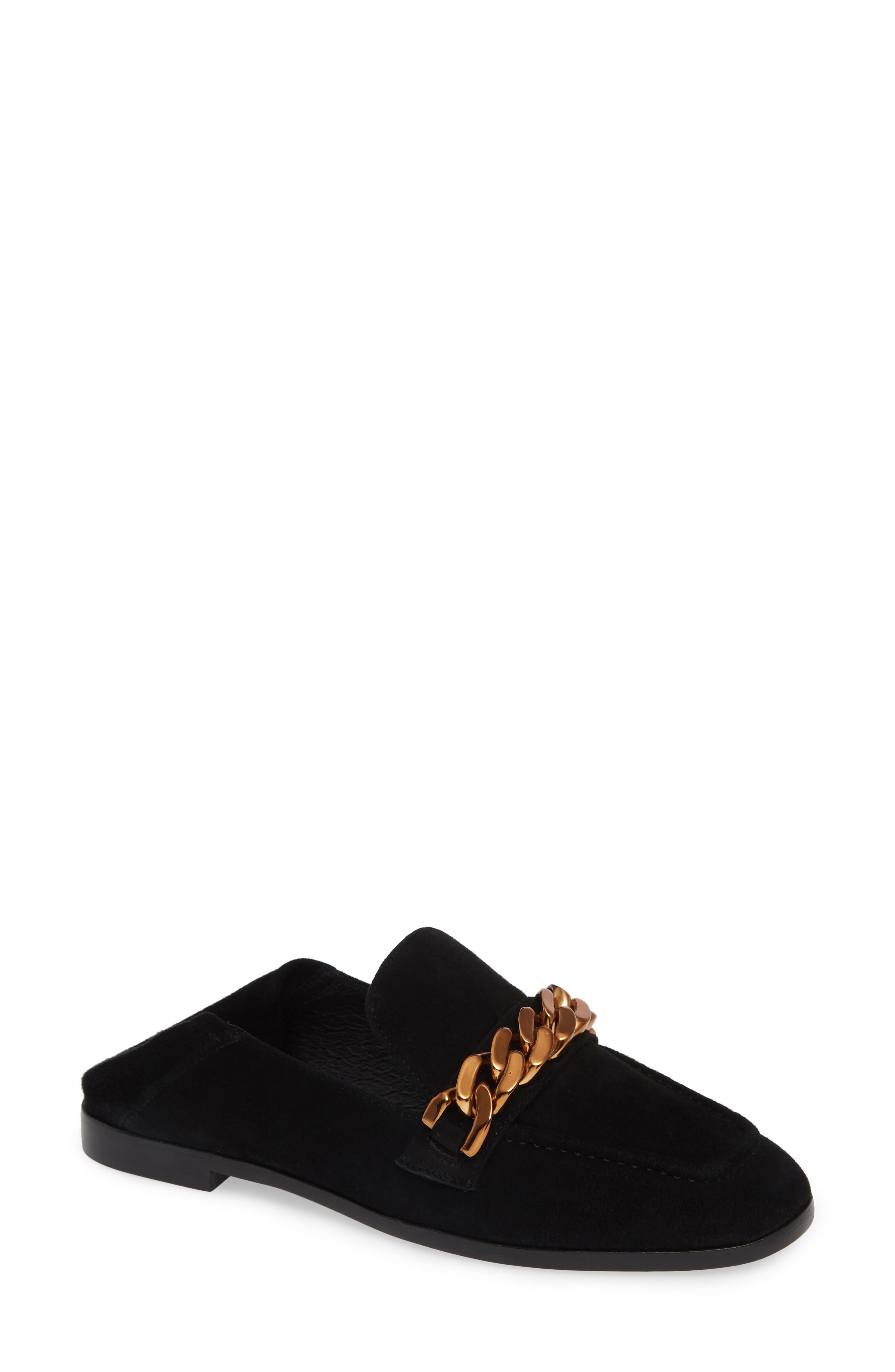 Jesse Convertible Heel Loafer,                         Main,                         color, BLACK SUEDE BRONZE