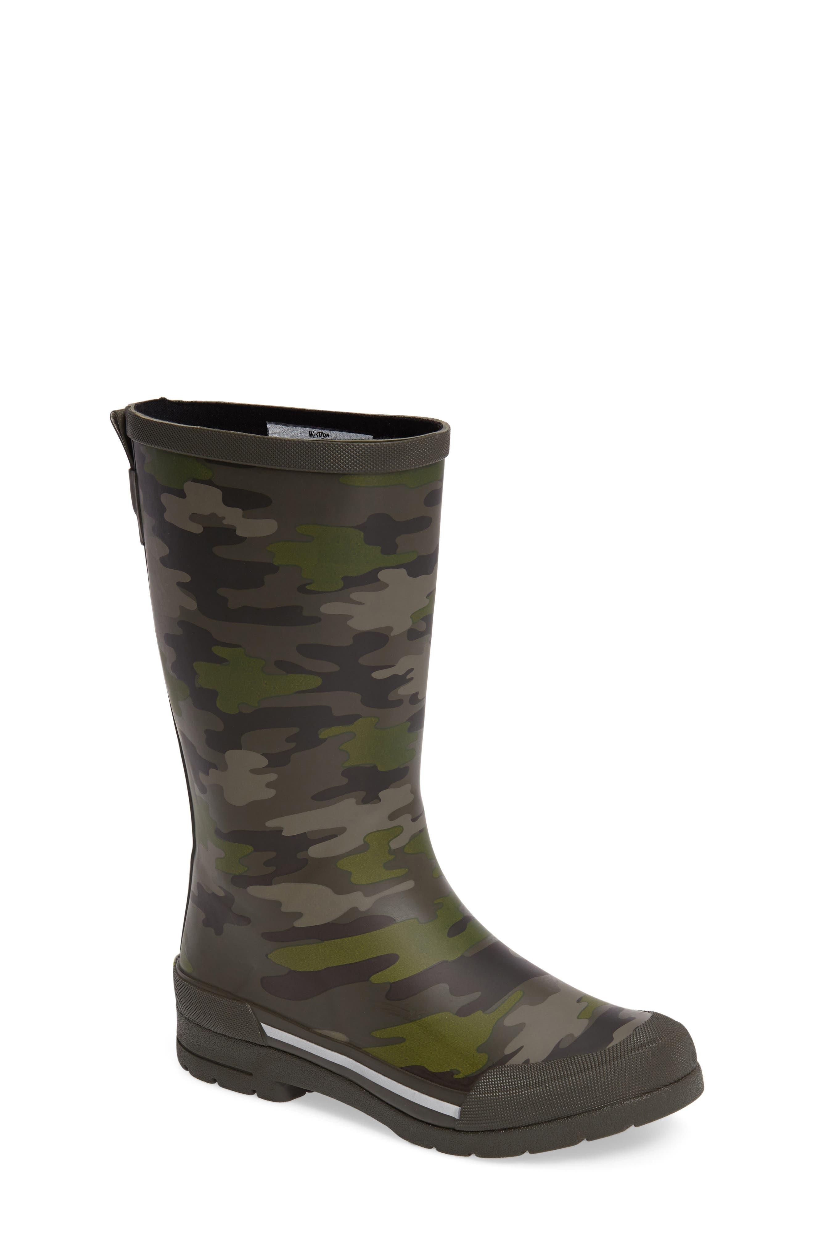 Classic EX Camo Waterproof Rain Boot,                             Main thumbnail 1, color,