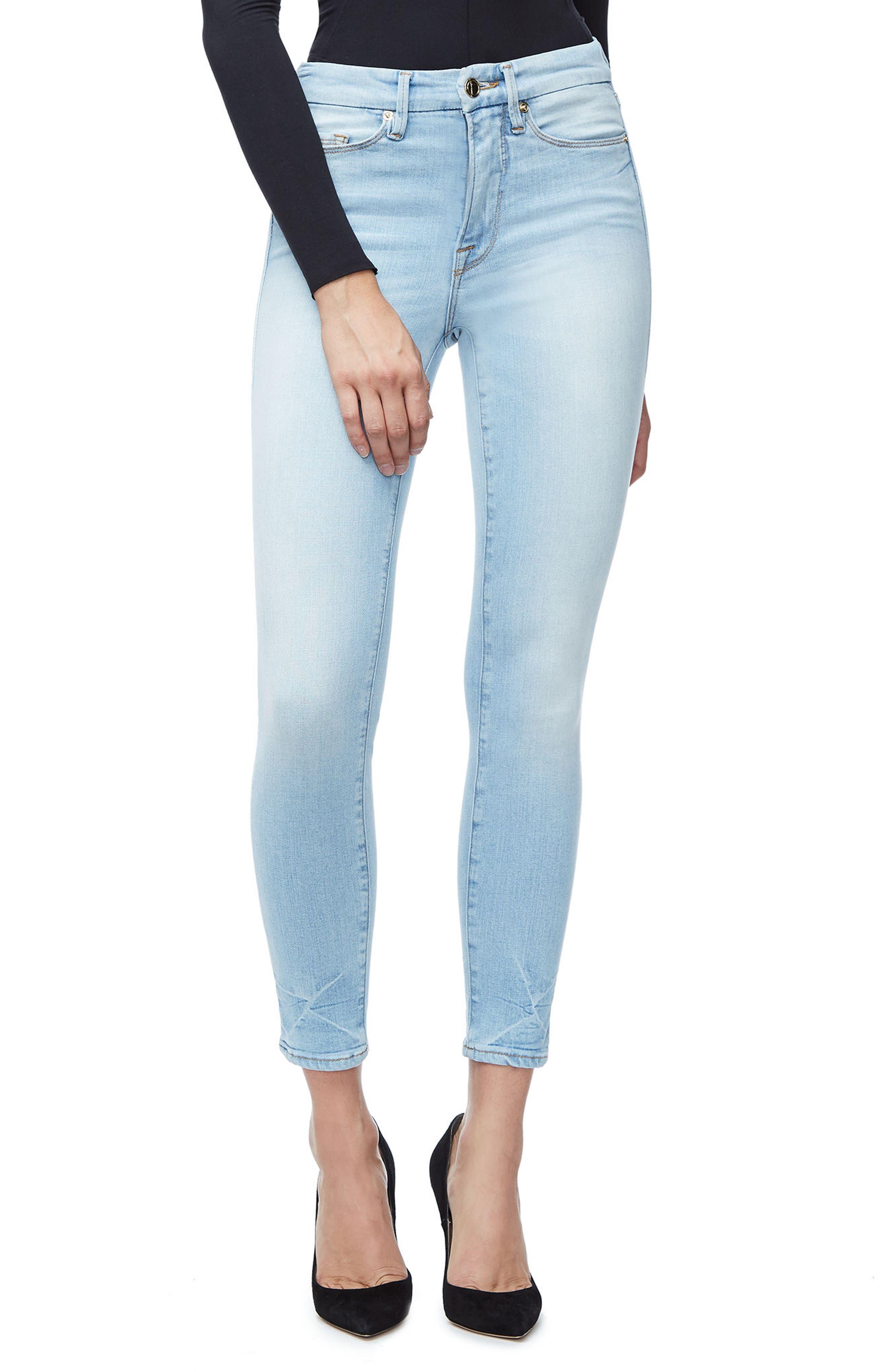 Good Legs High Waist Crop Skinny Jeans,                             Main thumbnail 1, color,                             401