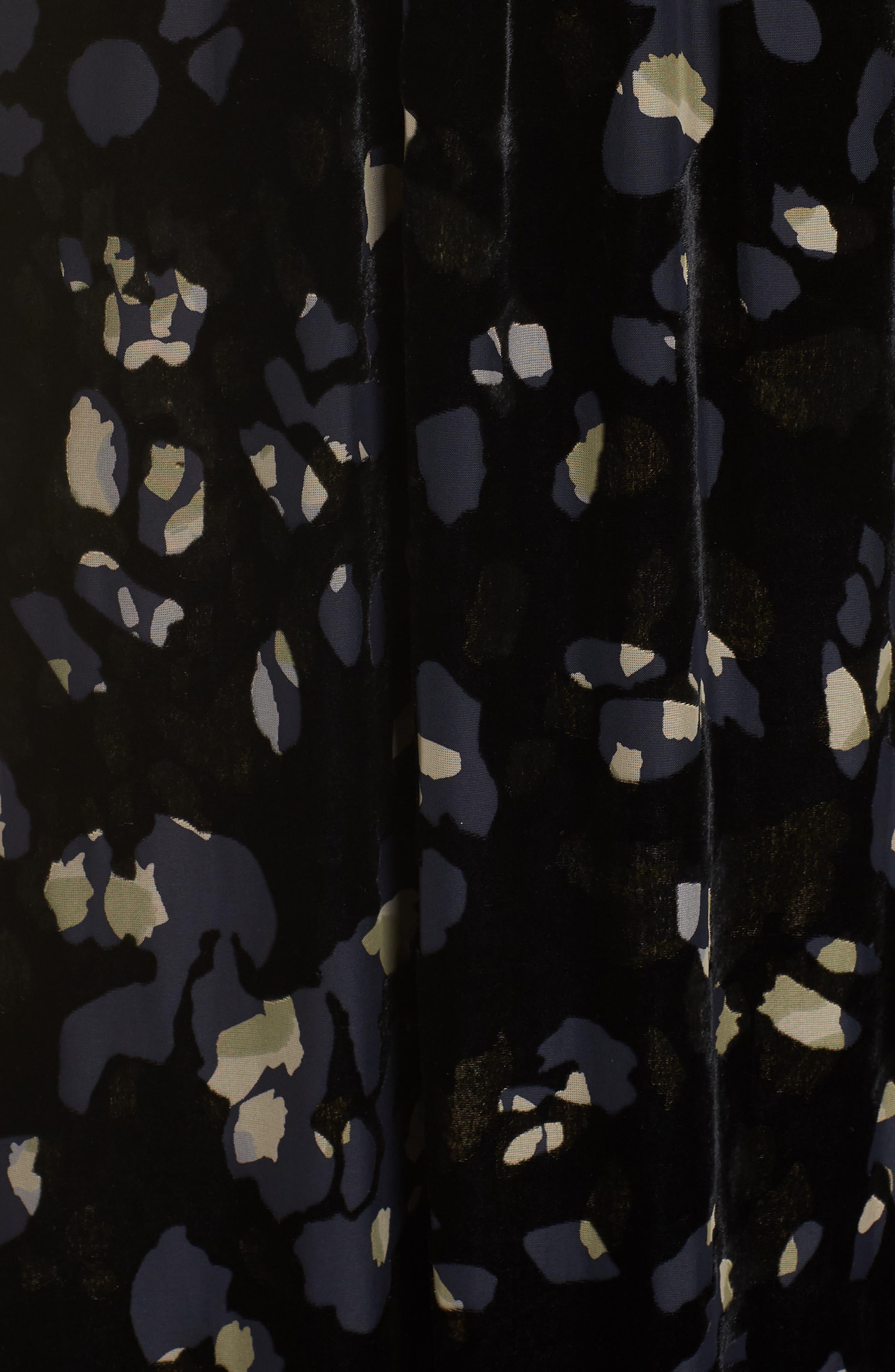 Velvet Maxi Dress,                             Alternate thumbnail 6, color,                             001