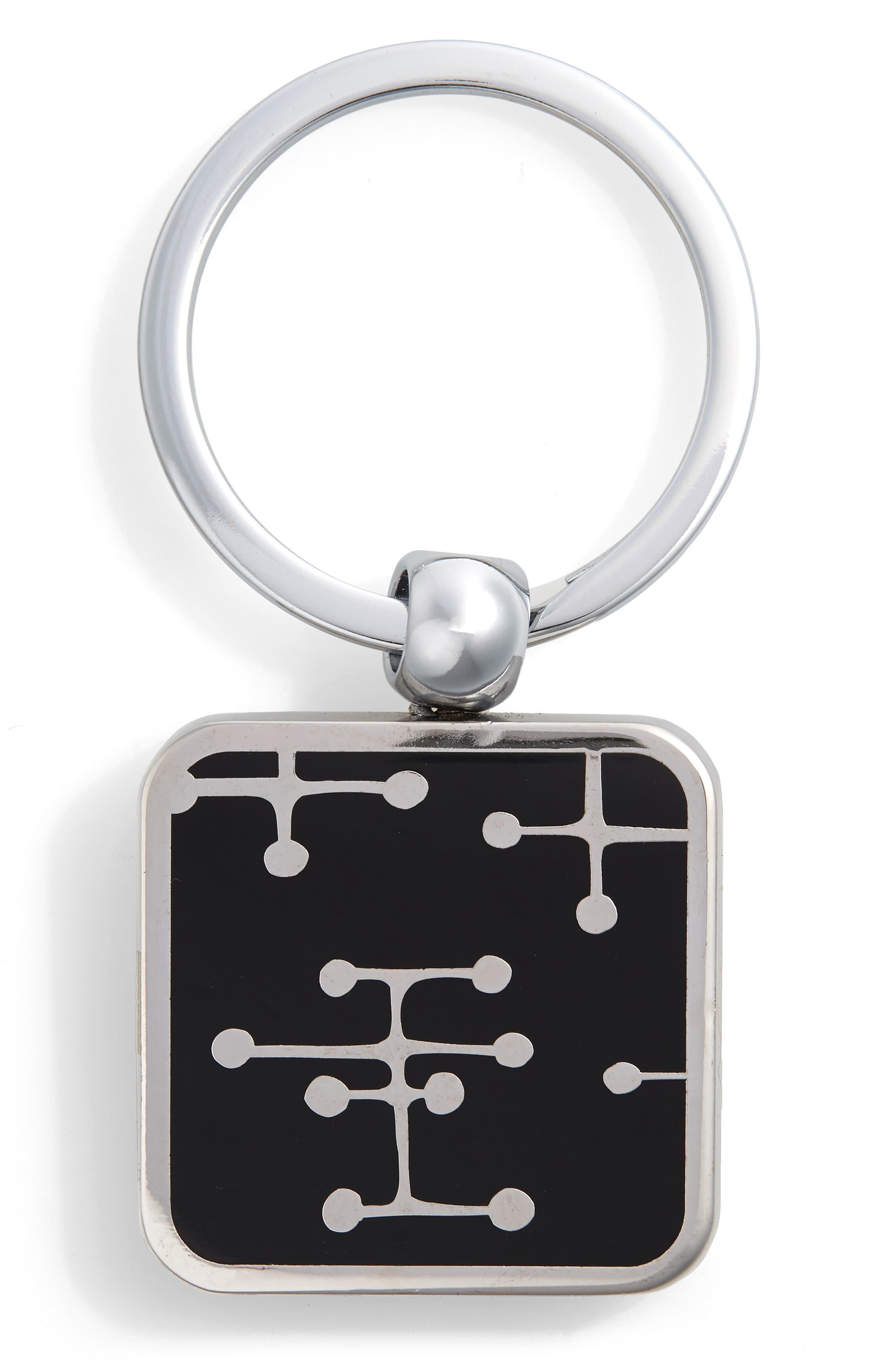 Dots Key Ring,                             Main thumbnail 1, color,                             SILVER