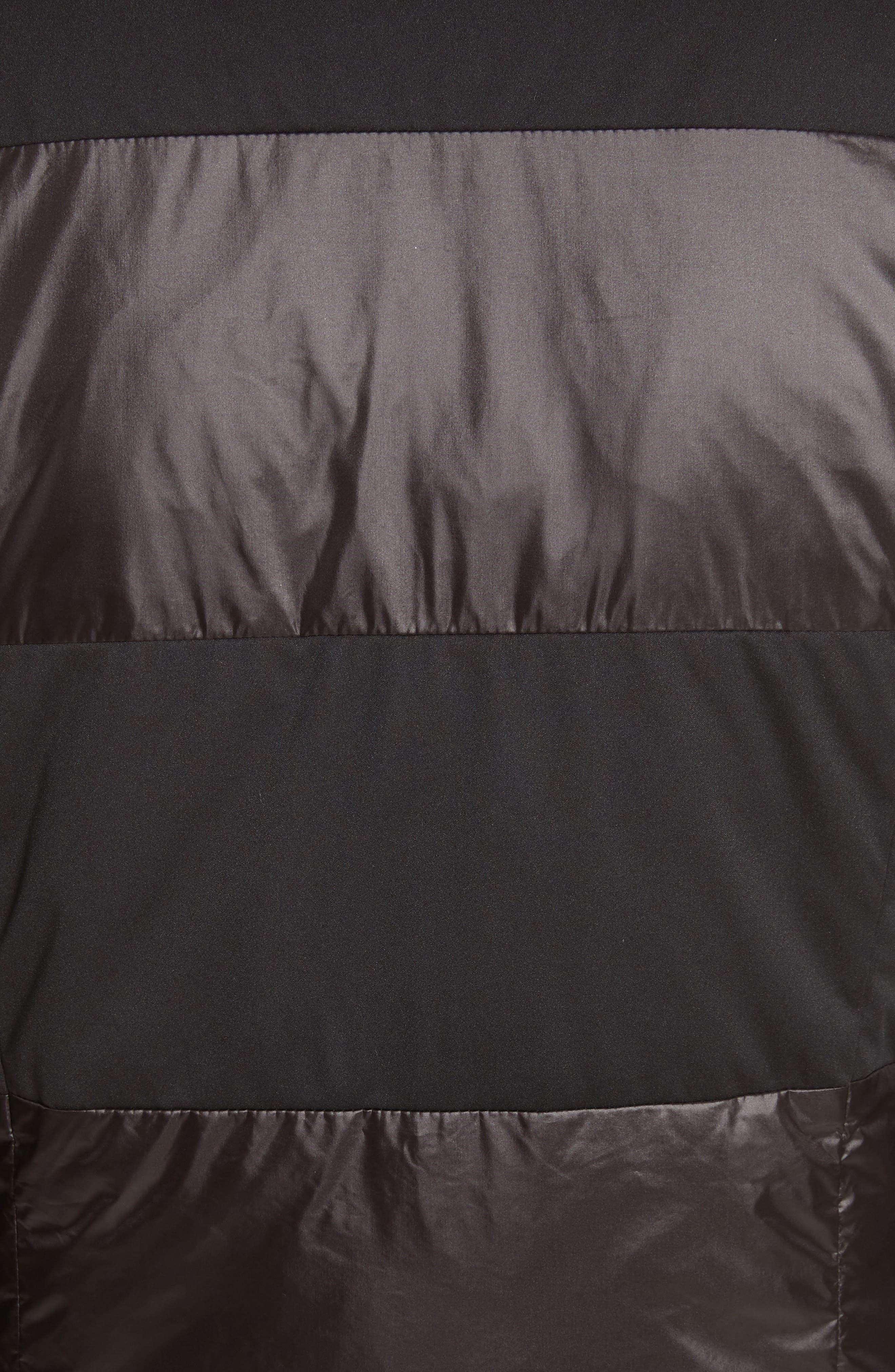 Reversible Dot Print Matte & Shiny Jacket,                             Alternate thumbnail 6, color,                             001
