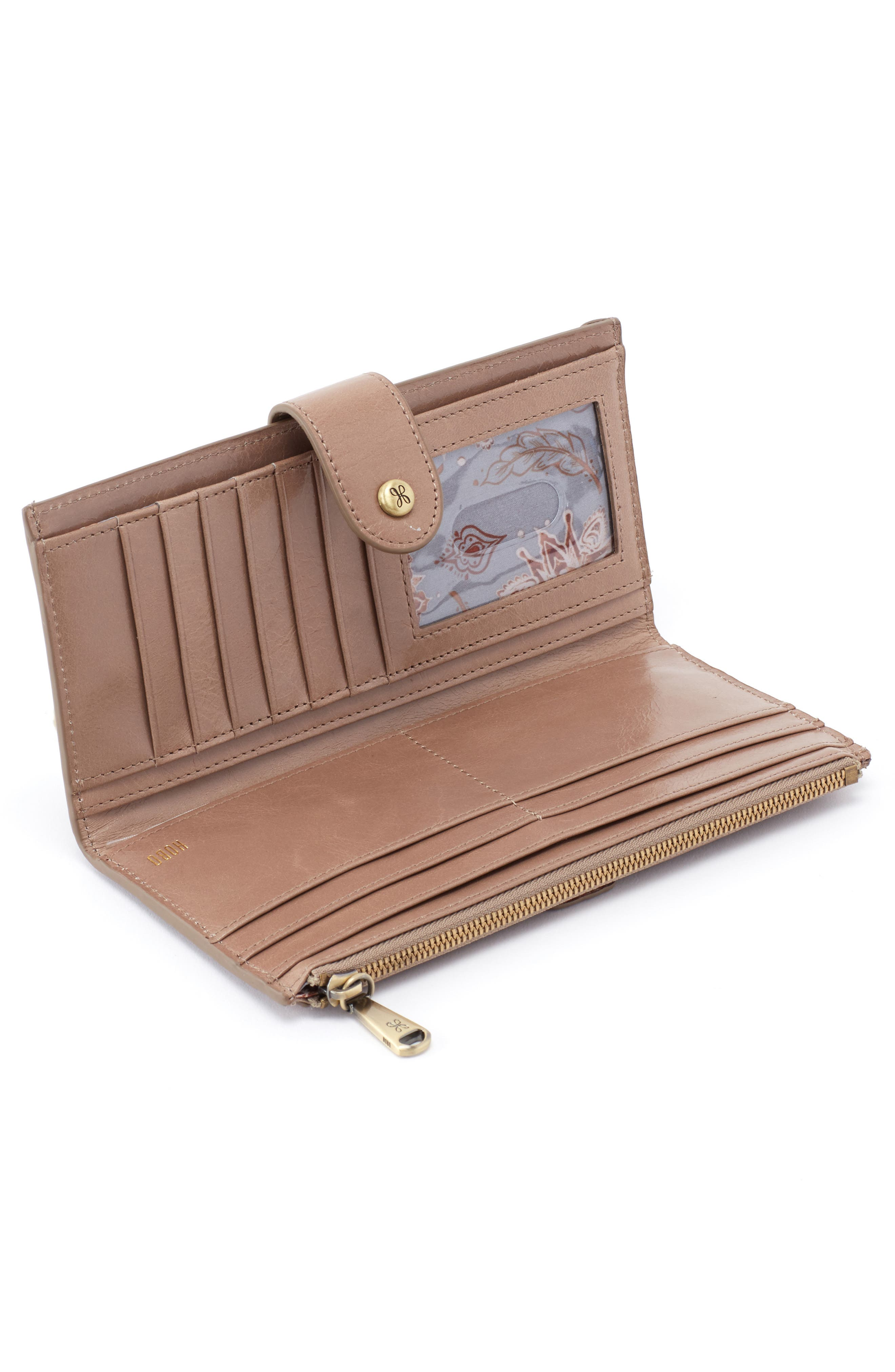 Dunn Leather Continental Wallet,                             Alternate thumbnail 2, color,                             COBBLESTONE