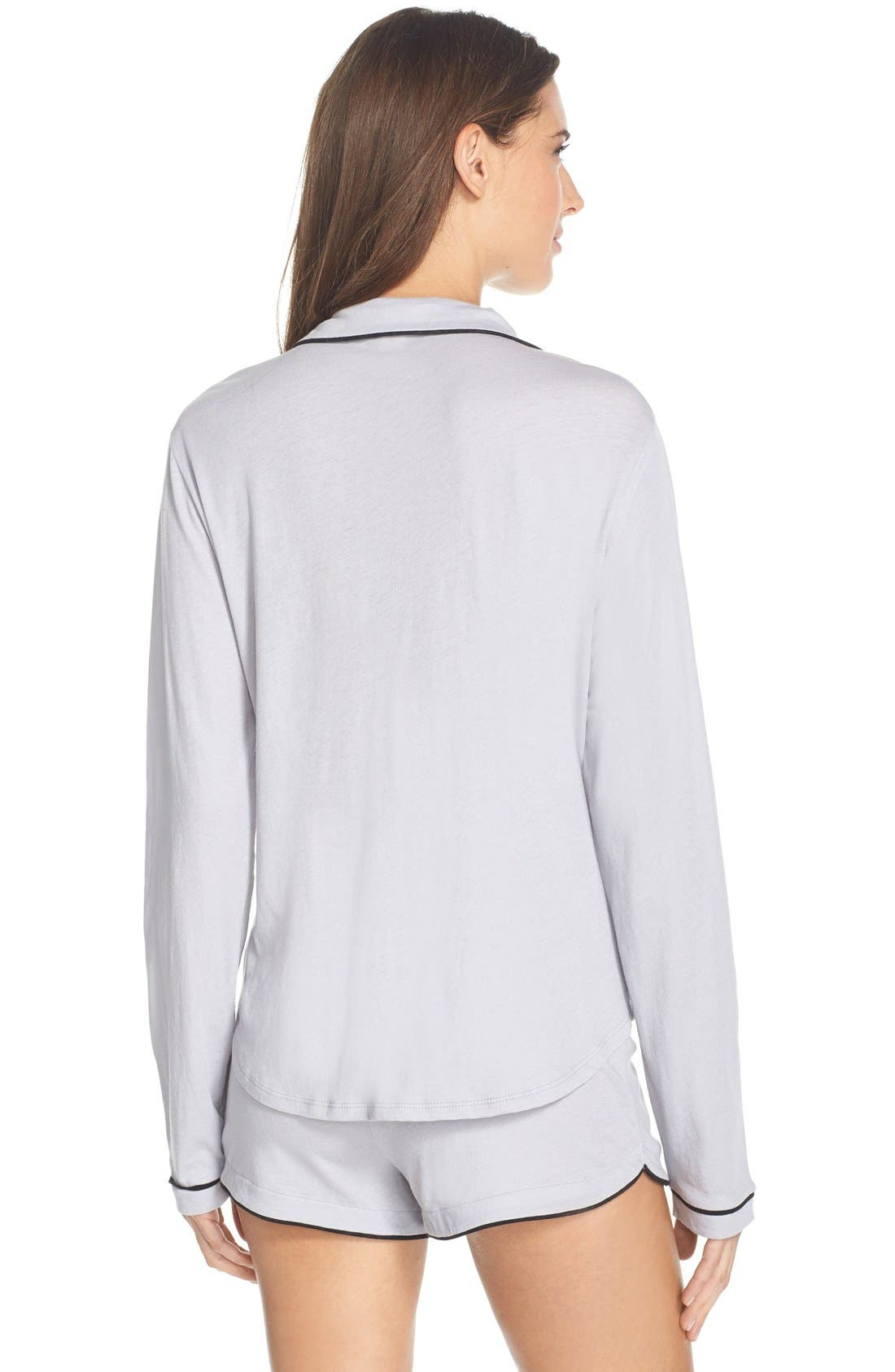 ONLY HEARTS,                             Organic Cotton Shorts Pajamas,                             Alternate thumbnail 3, color,                             400