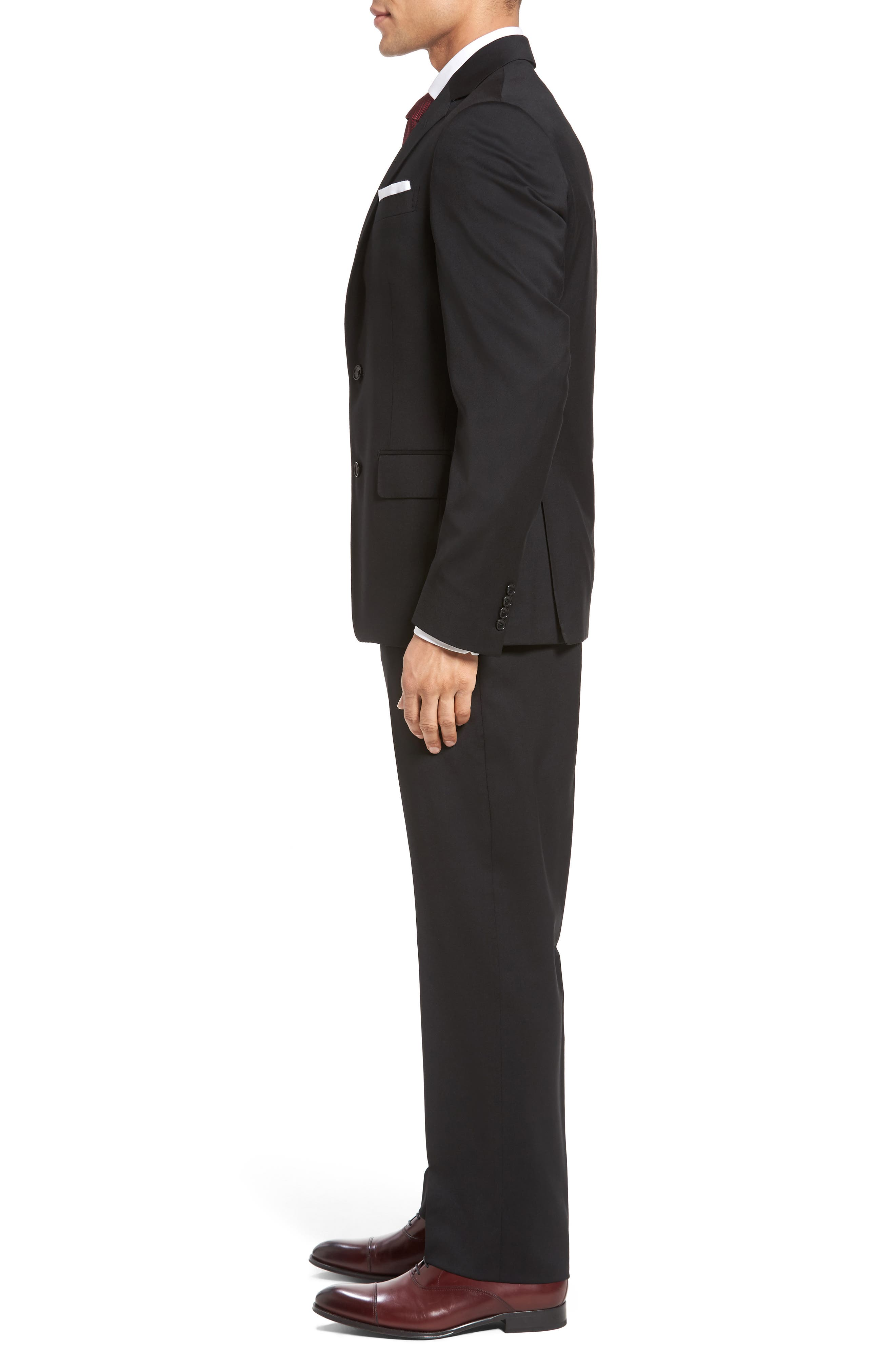 Classic Fit Solid Wool Suit,                             Alternate thumbnail 3, color,                             001