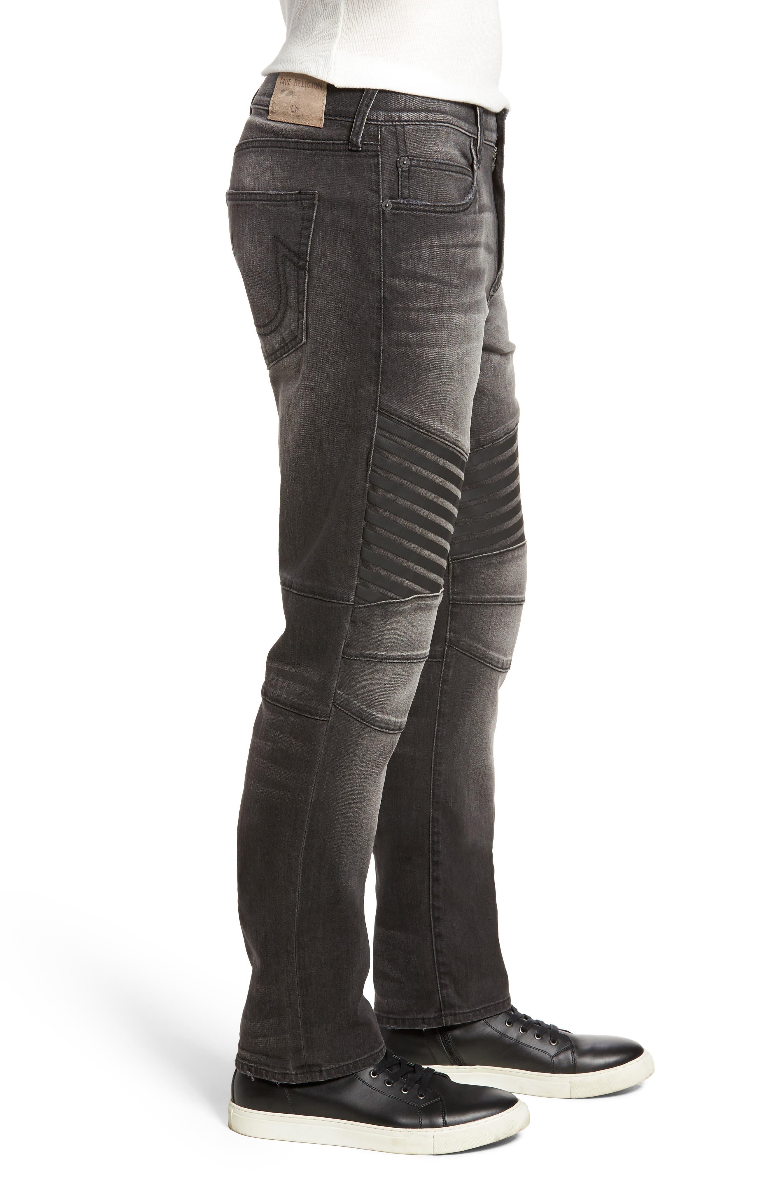 Geno Straight Leg Jeans,                             Alternate thumbnail 3, color,                             DARK REBEL RACE
