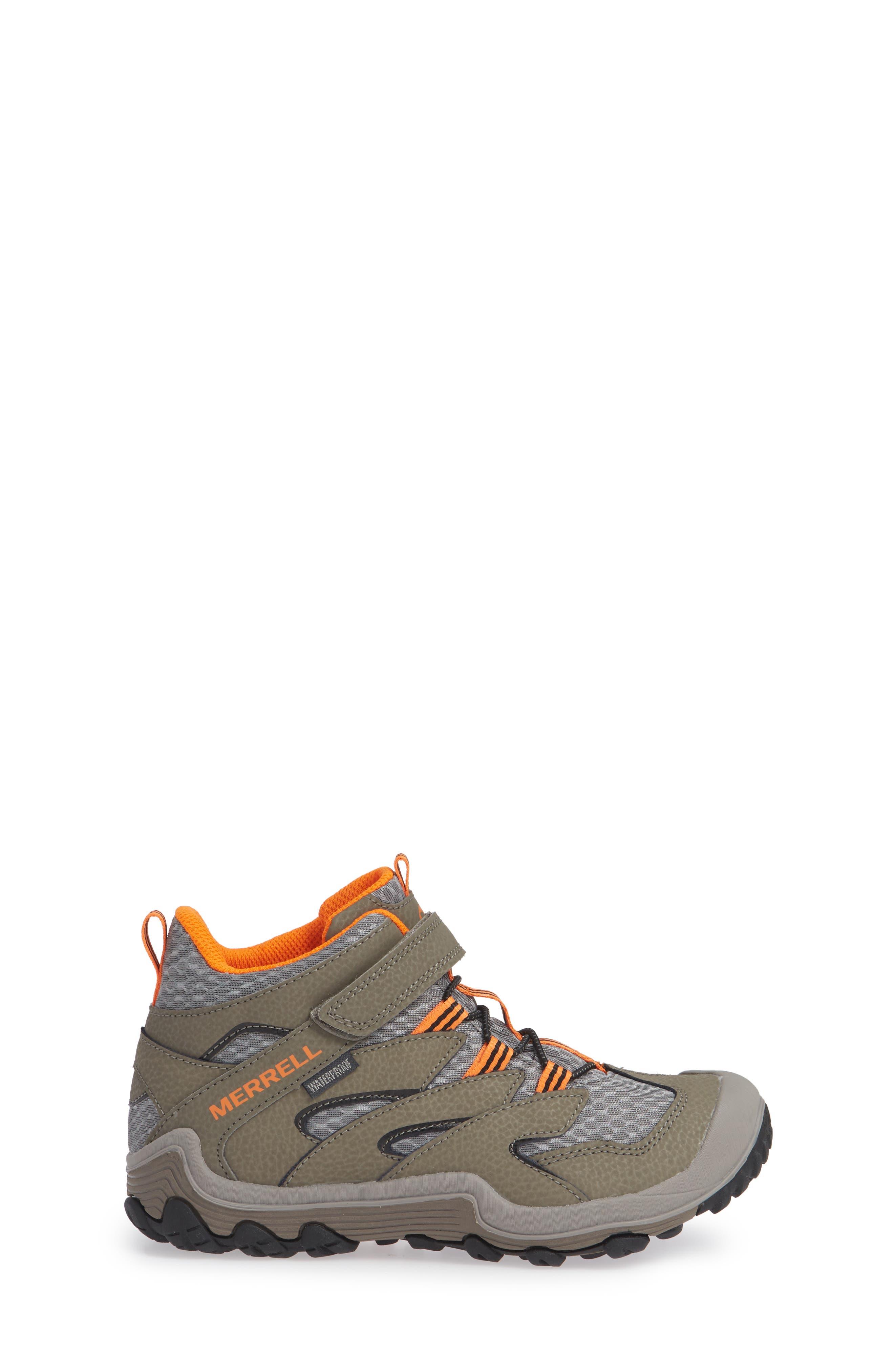 Chameleon 7 Mid Waterproof Boot,                             Alternate thumbnail 3, color,                             GUNSMOKE
