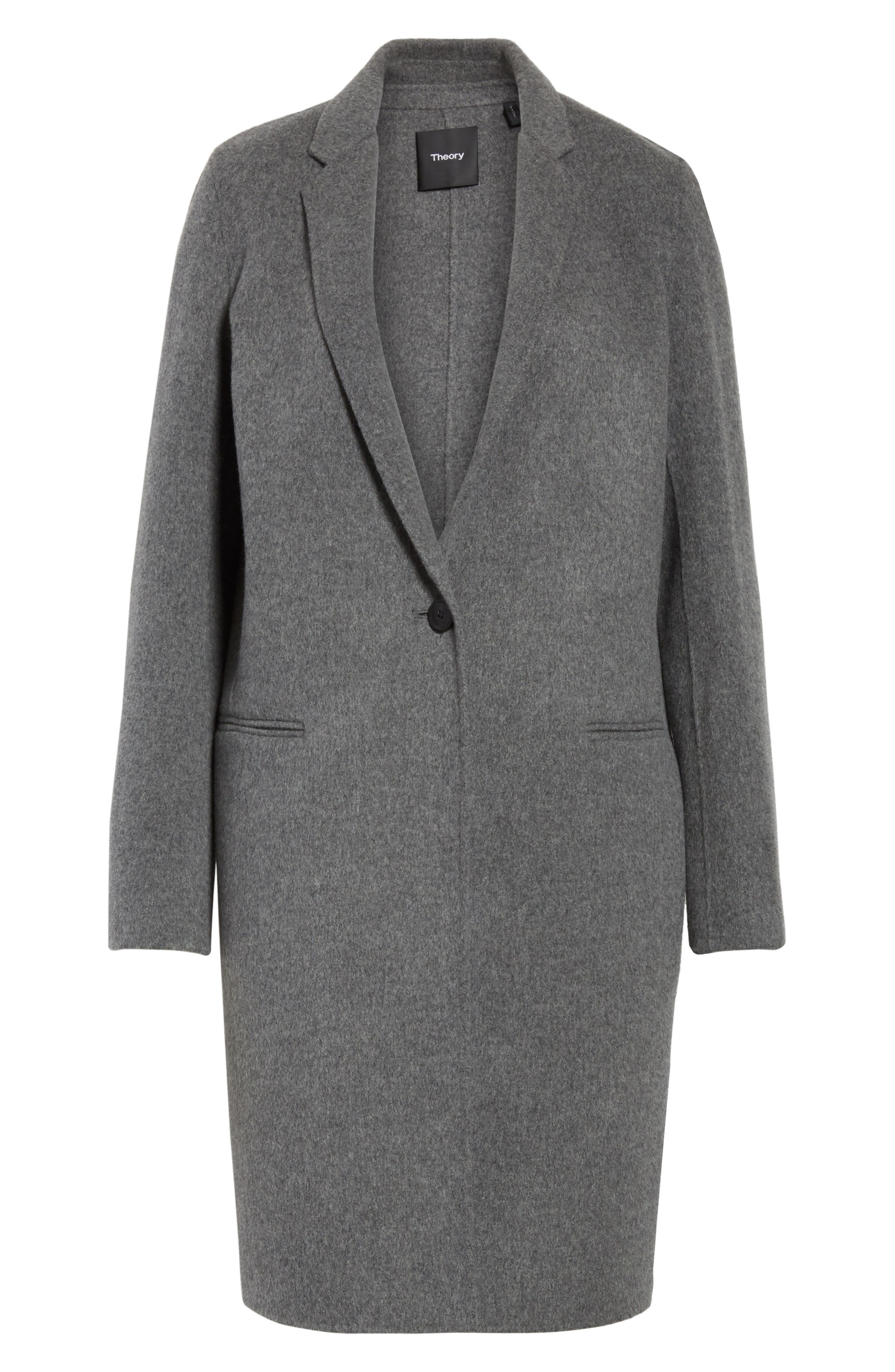 New Divide Wool & Cashmere Coat,                             Alternate thumbnail 5, color,                             021