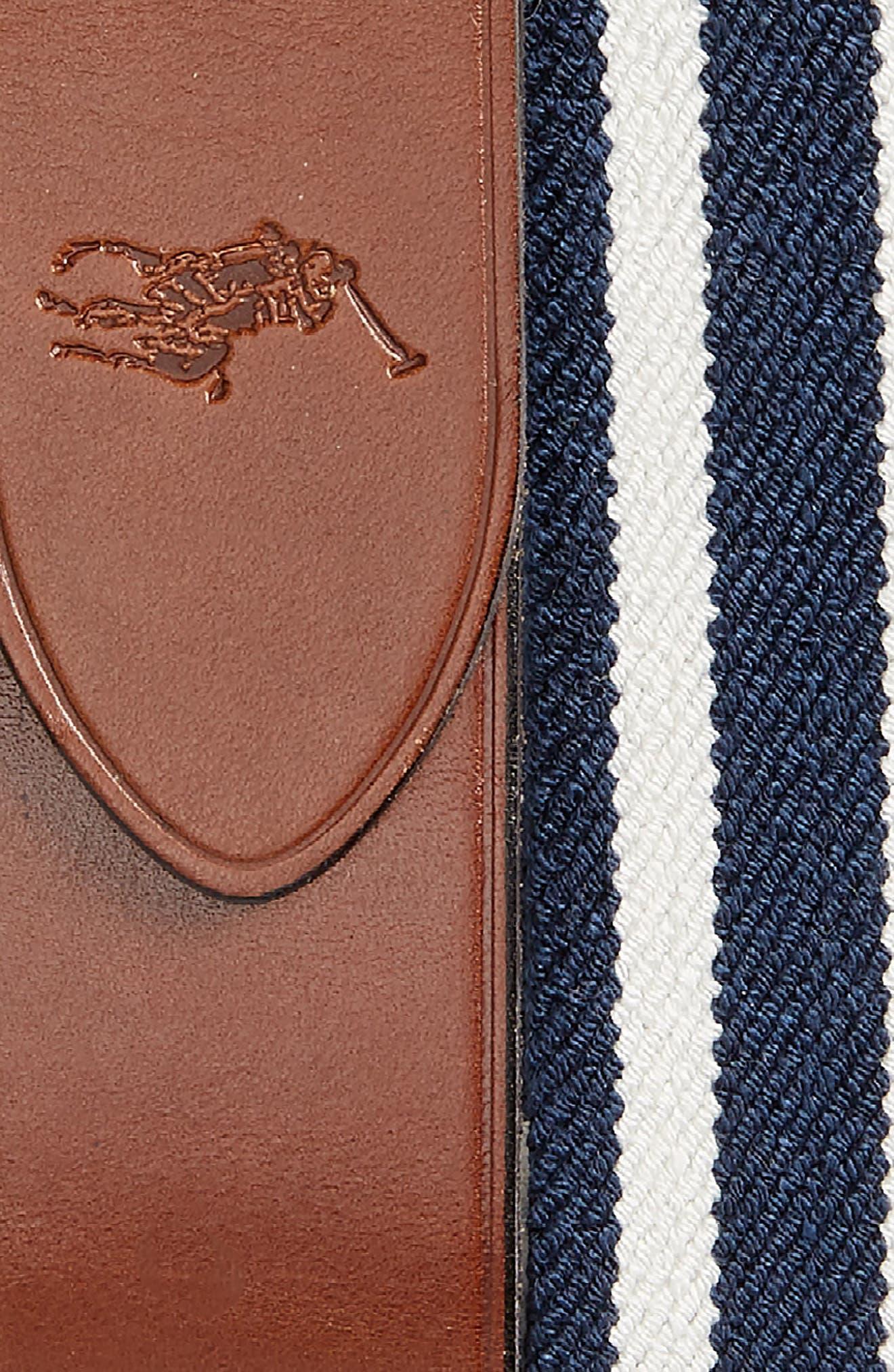 Stretch Web & Leather Belt,                             Alternate thumbnail 4, color,