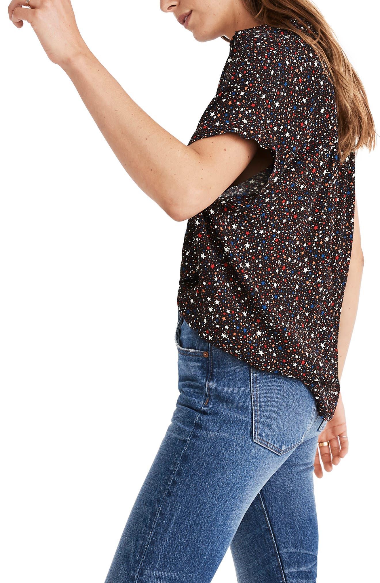 Central Drapey Shirt,                             Alternate thumbnail 4, color,                             009