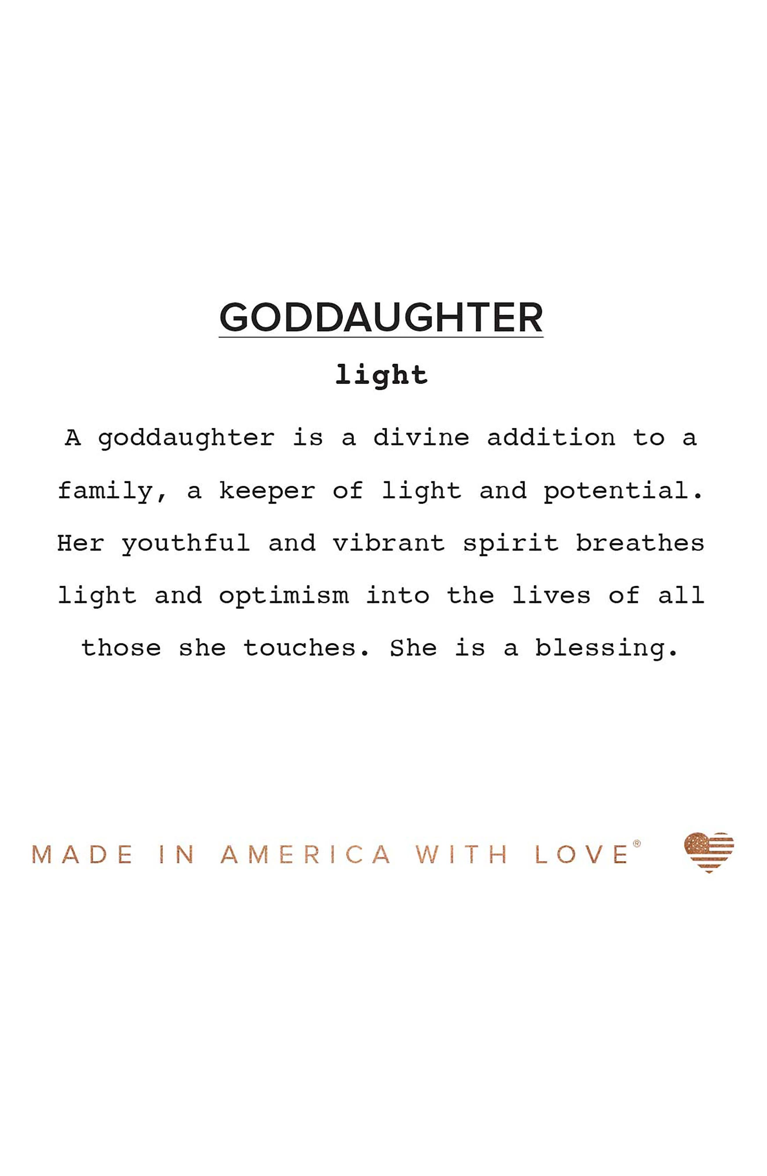 Because I Love You Goddaughter Charm Bangle,                             Alternate thumbnail 3, color,                             040