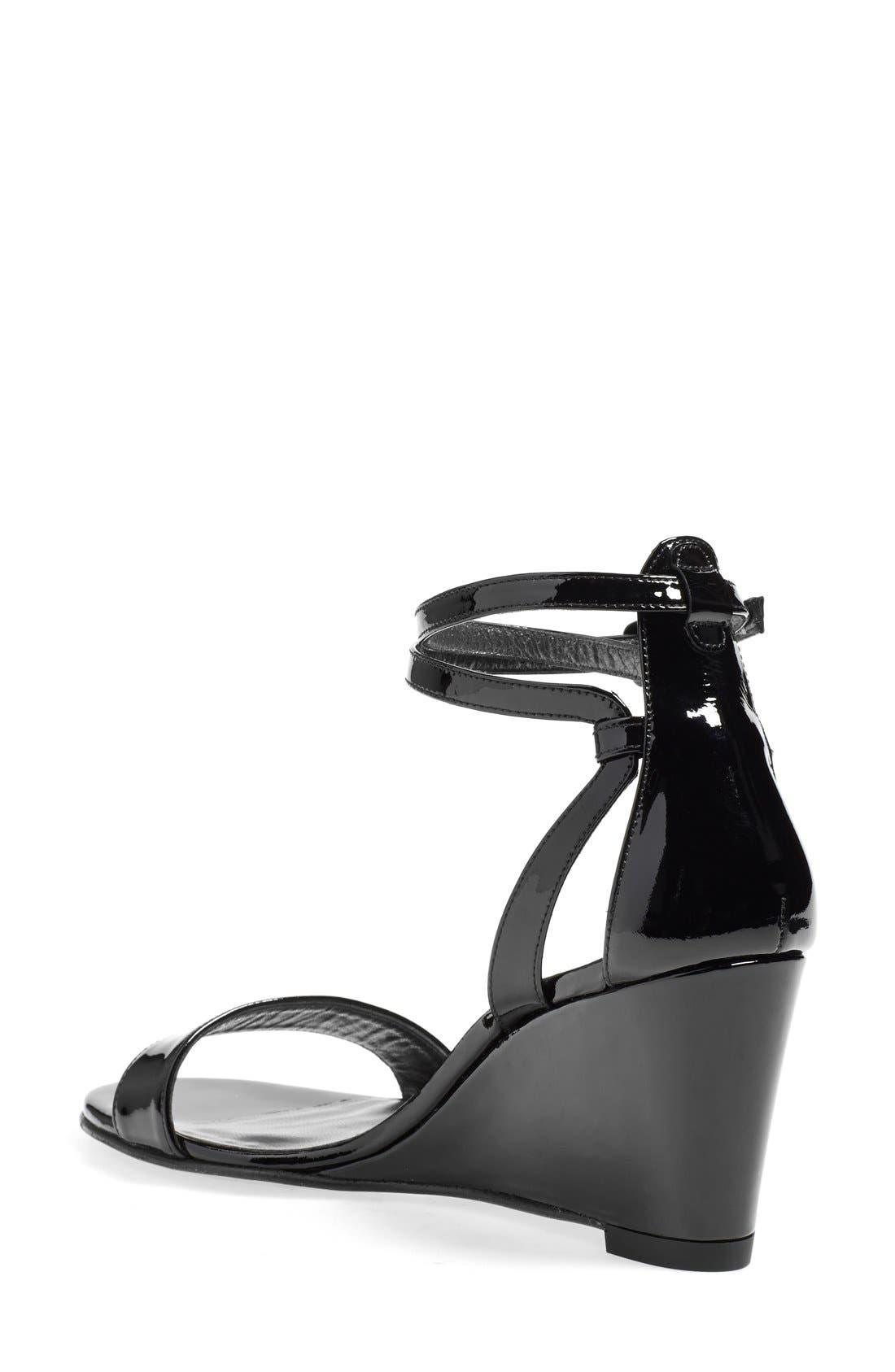 'Backdraft' Ankle Strap Wedge Sandal,                             Alternate thumbnail 2, color,                             002