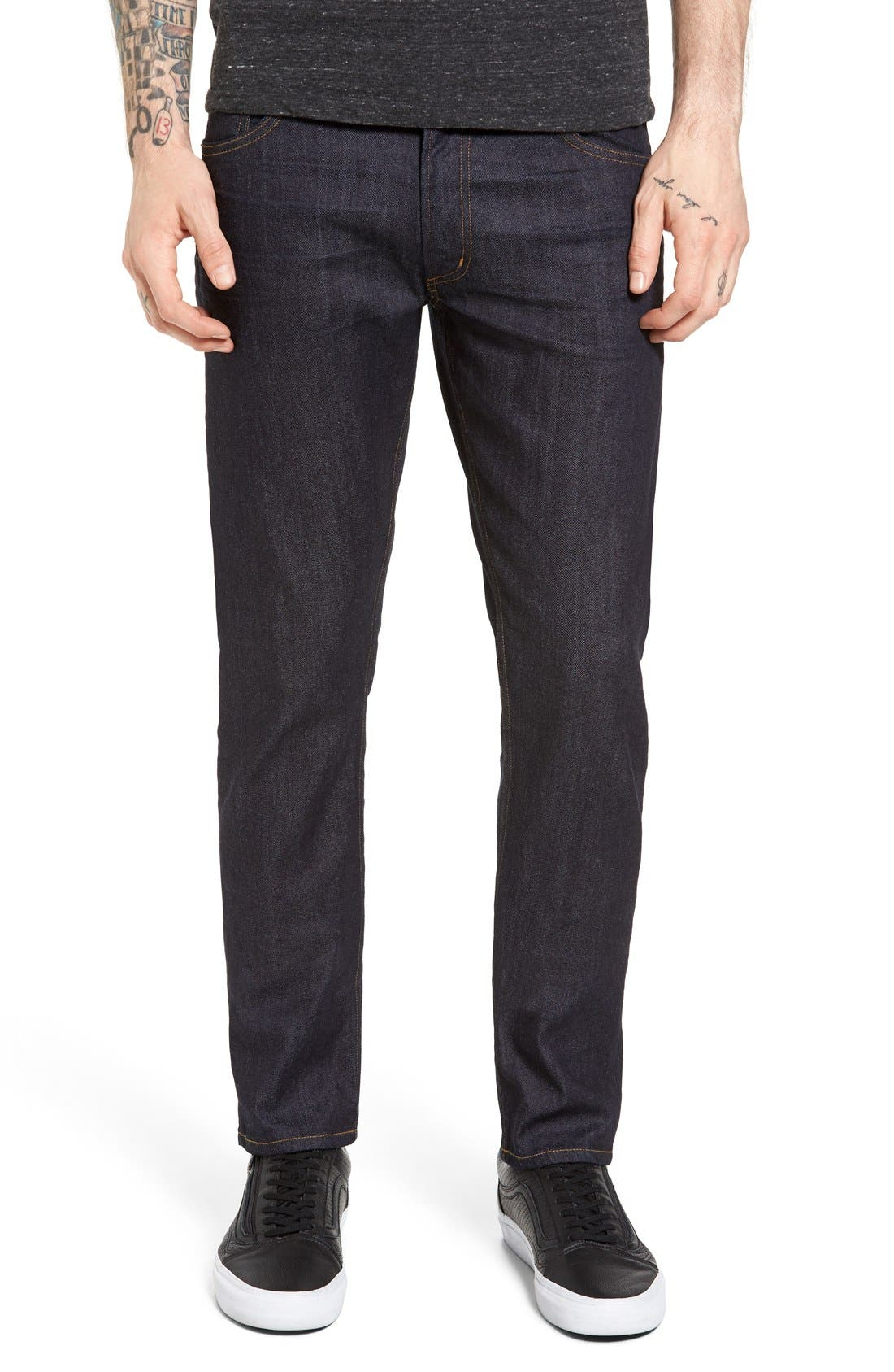 Bowery Slim Fit Jeans,                             Alternate thumbnail 12, color,                             432
