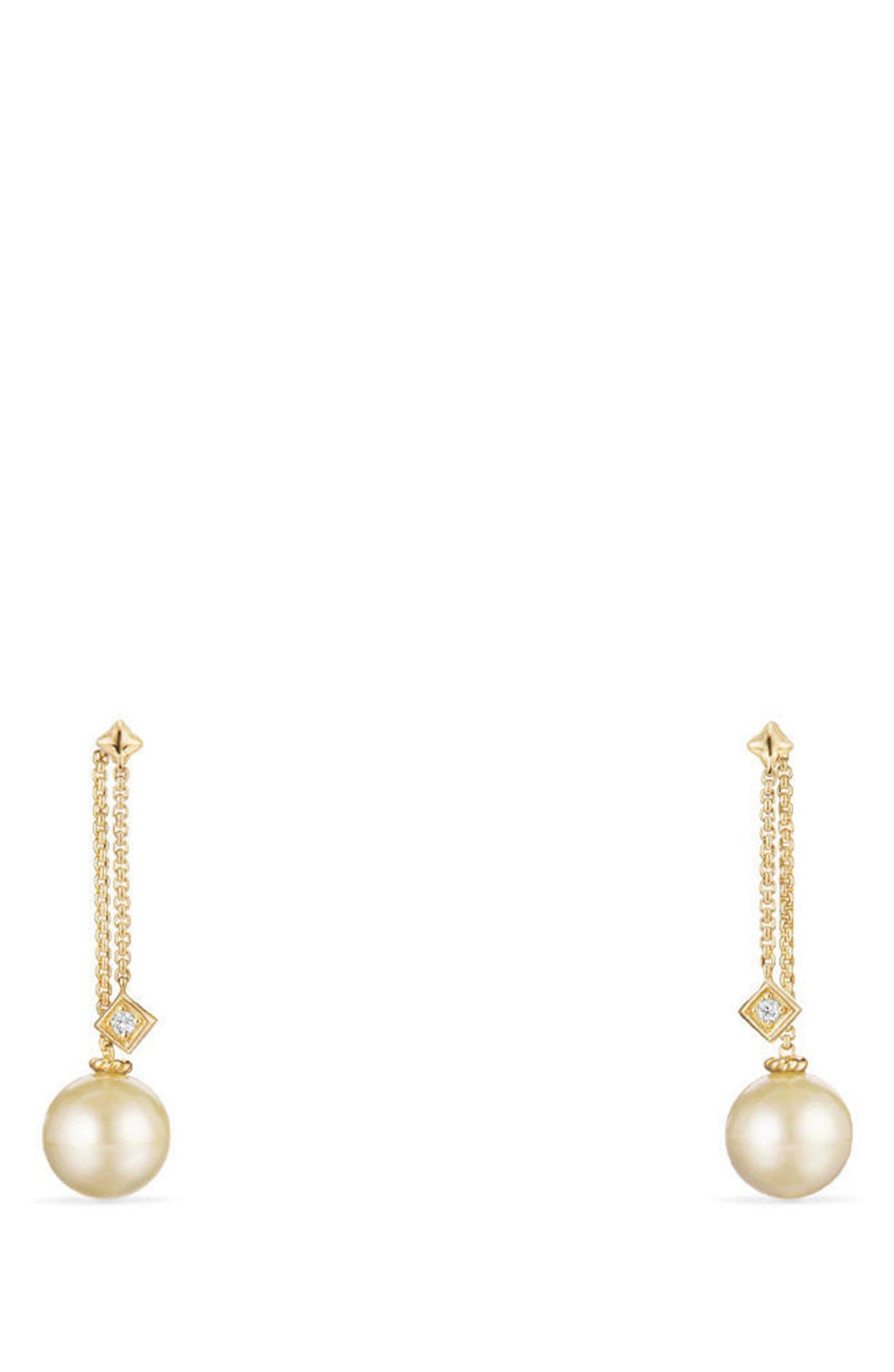 Solari Earrings with Diamonds in 18K Gold,                             Main thumbnail 1, color,                             YELLOW GOLD/ SOUTH SEA YELLOW