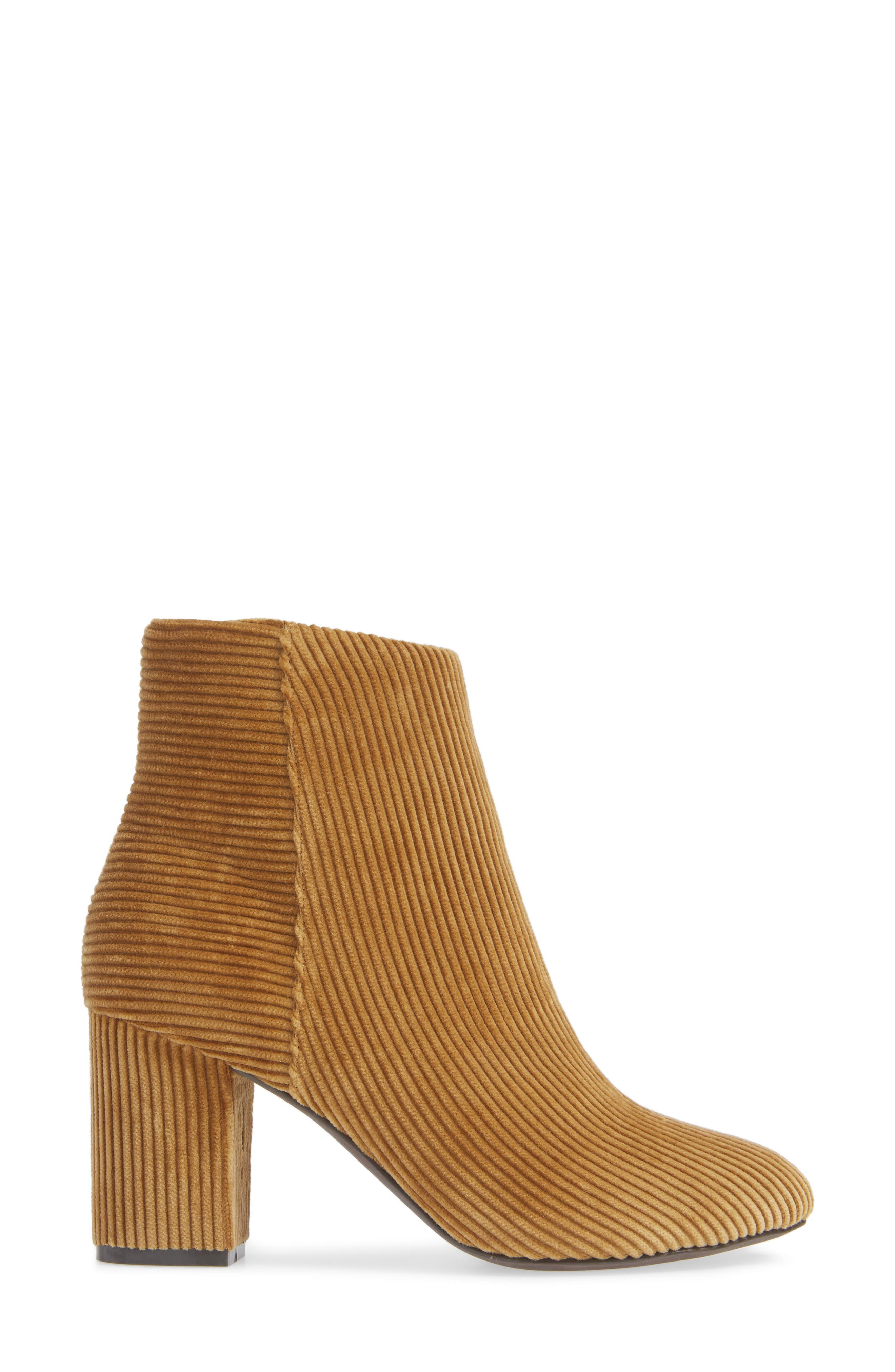 Andrea Bootie,                             Alternate thumbnail 3, color,                             TAN CORDUROY