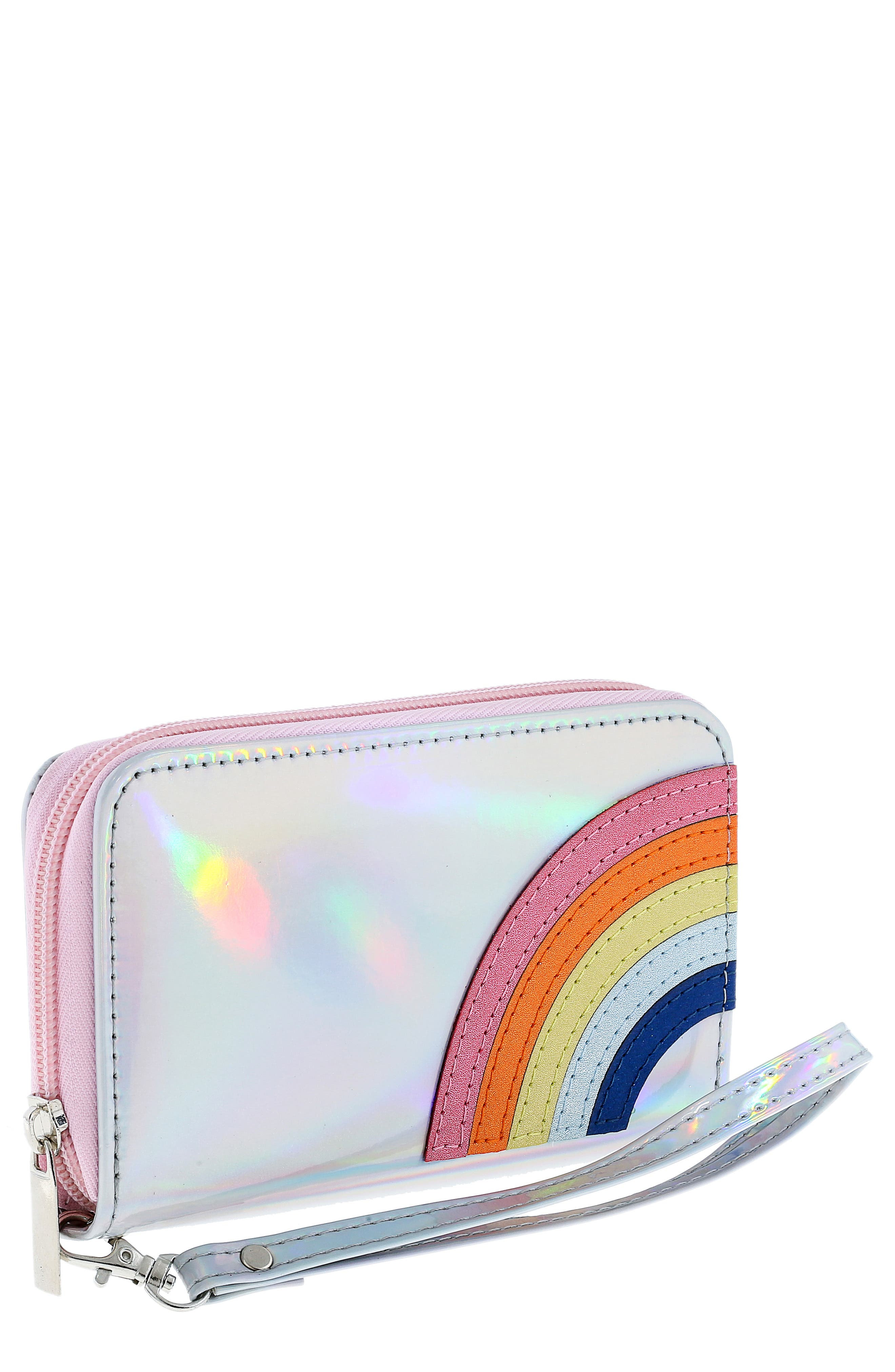 Girls Capelli New York Rainbow Holographic Wristlet  Metallic