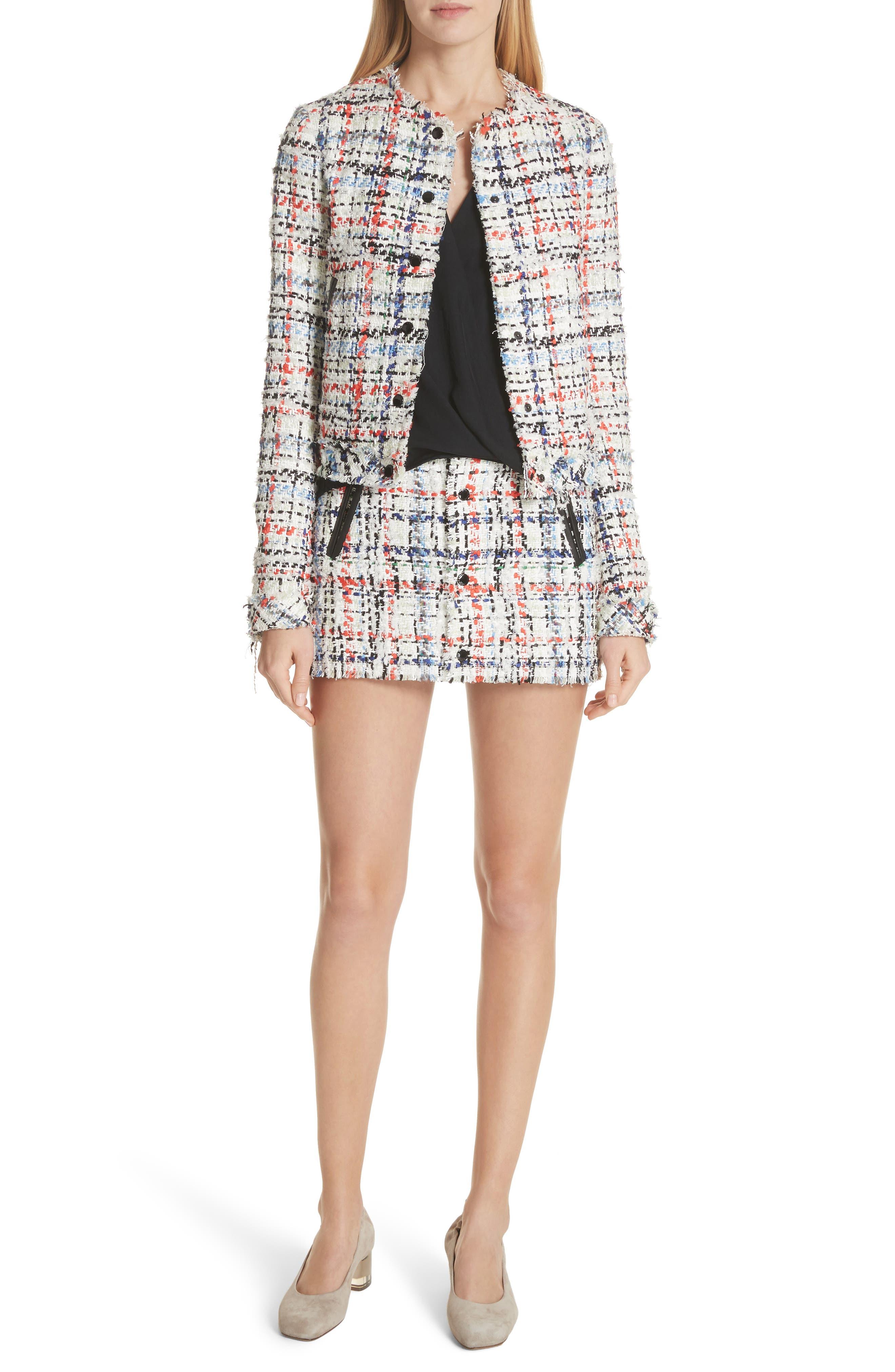 Otis Tweed Miniskirt,                             Alternate thumbnail 7, color,                             169