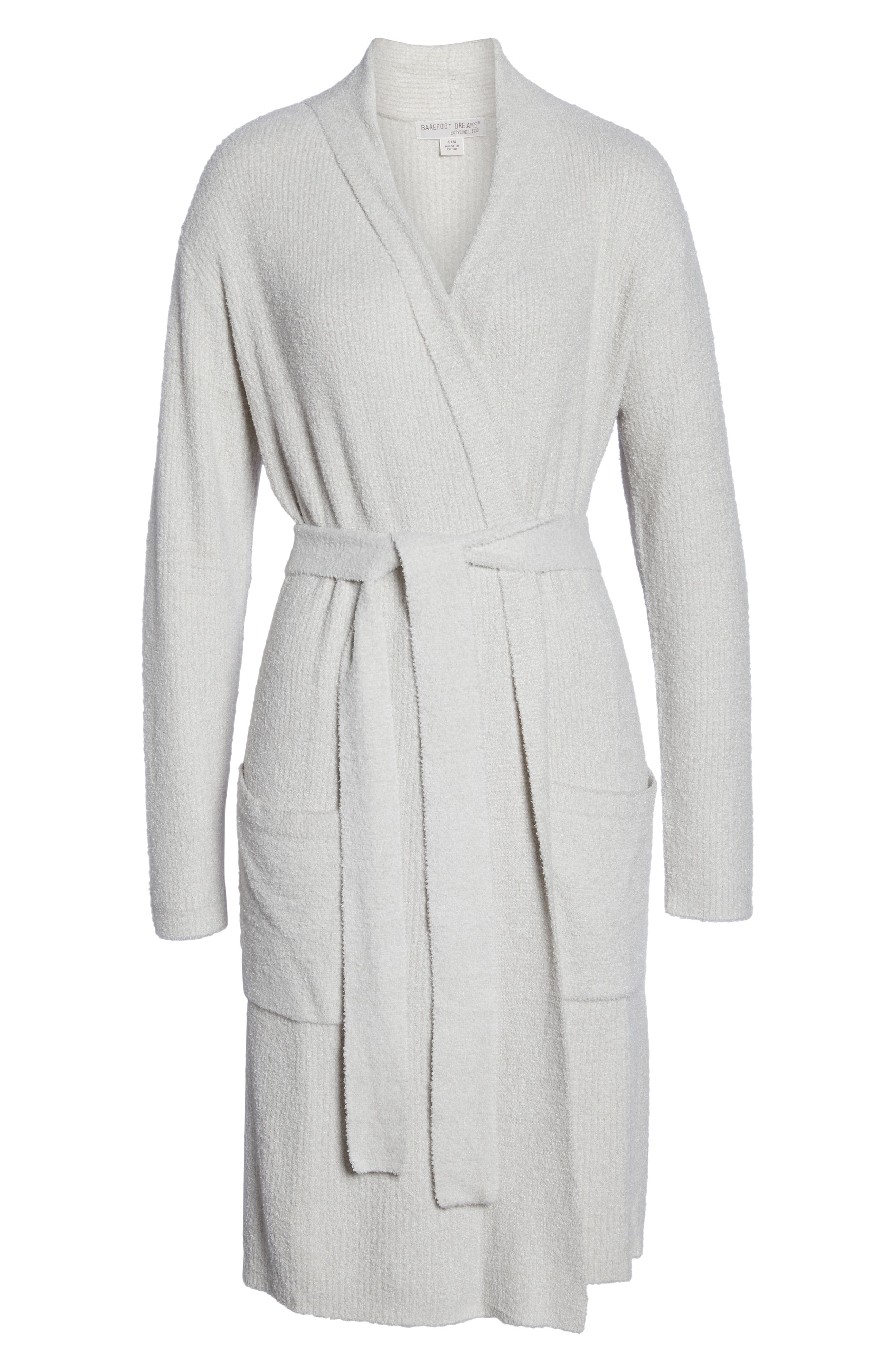 CozyChic<sup>™</sup> Ribbed Robe,                             Alternate thumbnail 6, color,                             SILVER/ PEARL- HE