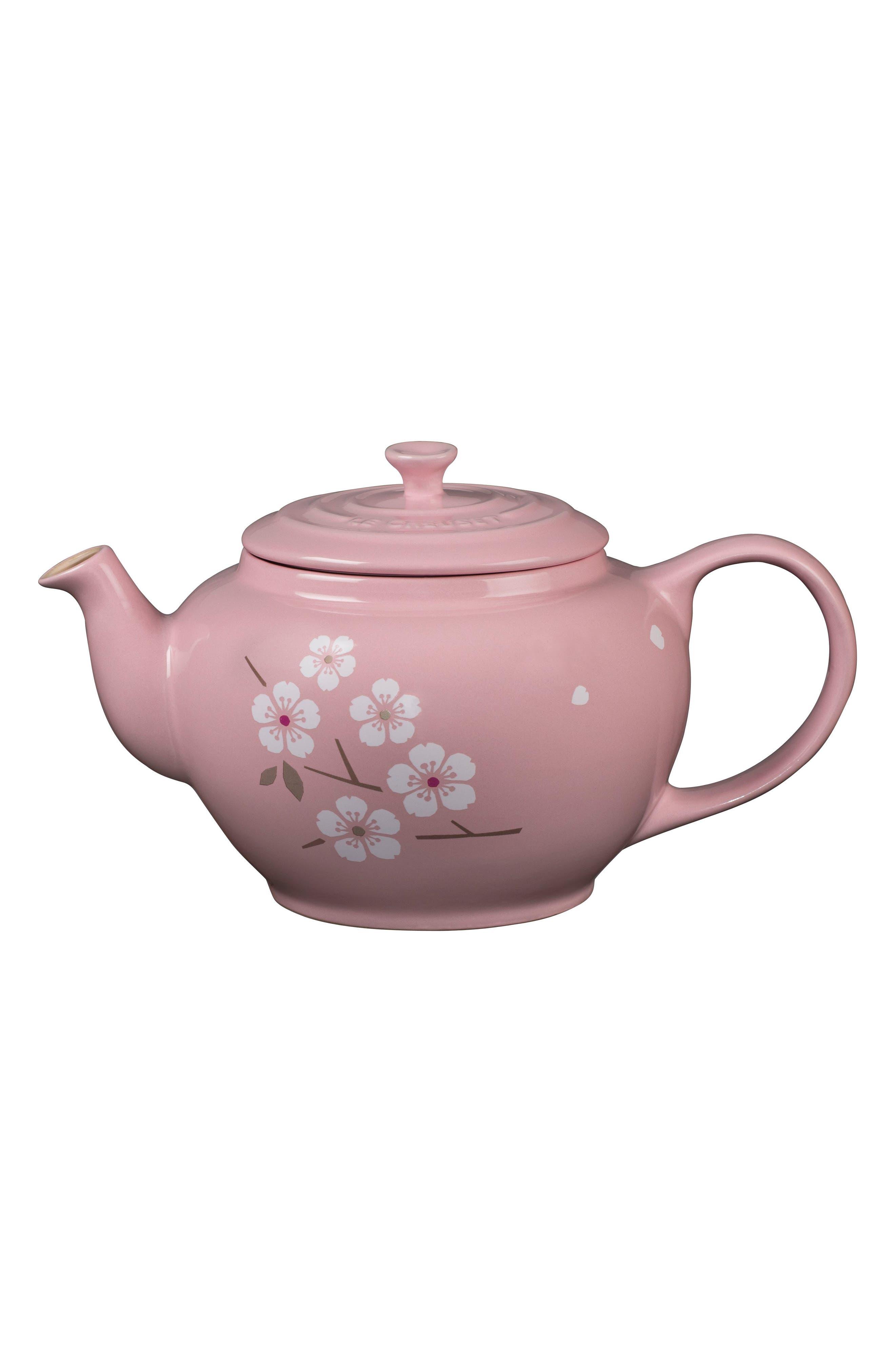 Sakura 1-Quart Stoneware Teapot,                             Main thumbnail 1, color,                             650