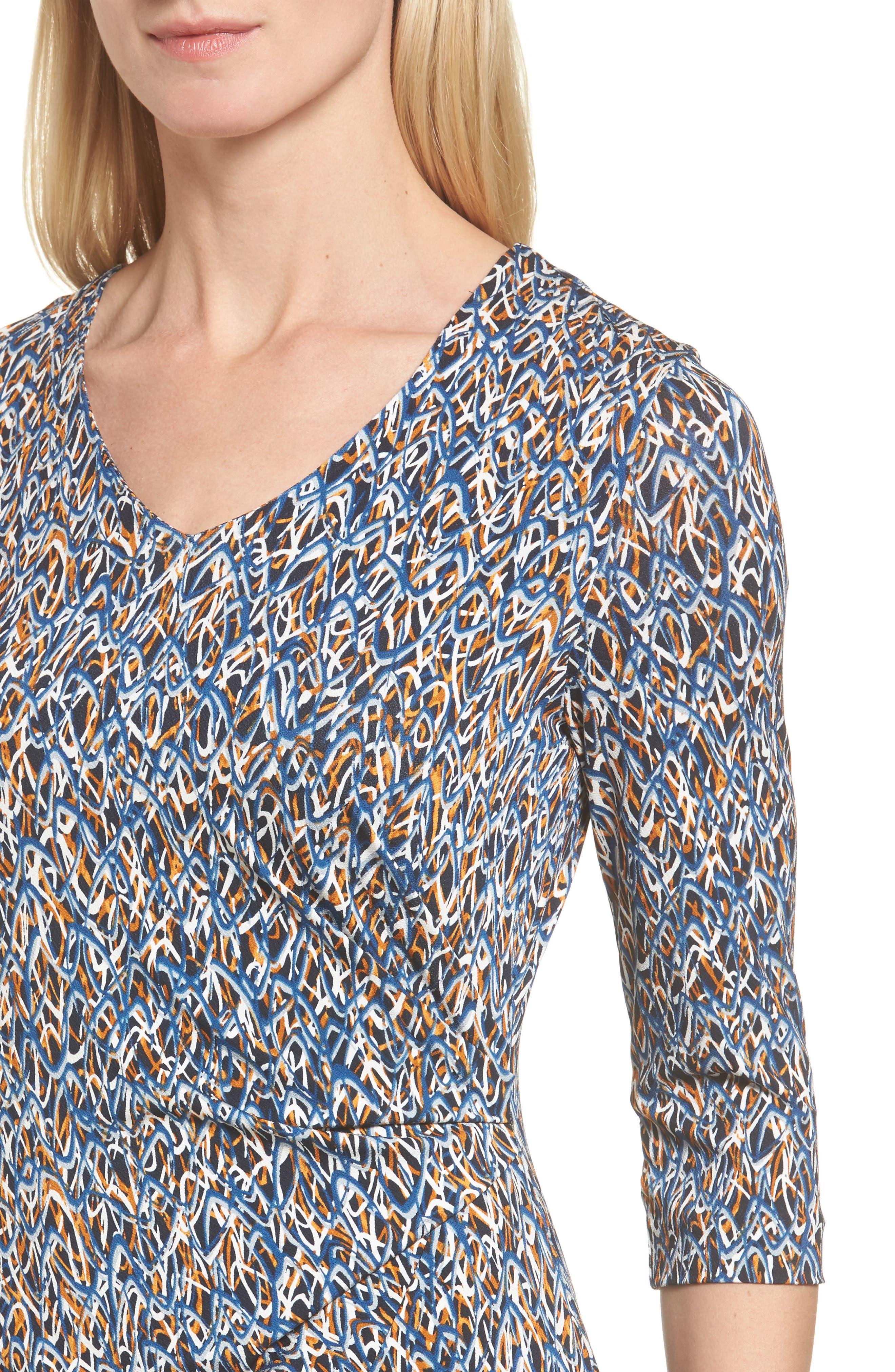 Epona Print Sheath Dress,                             Alternate thumbnail 4, color,                             461