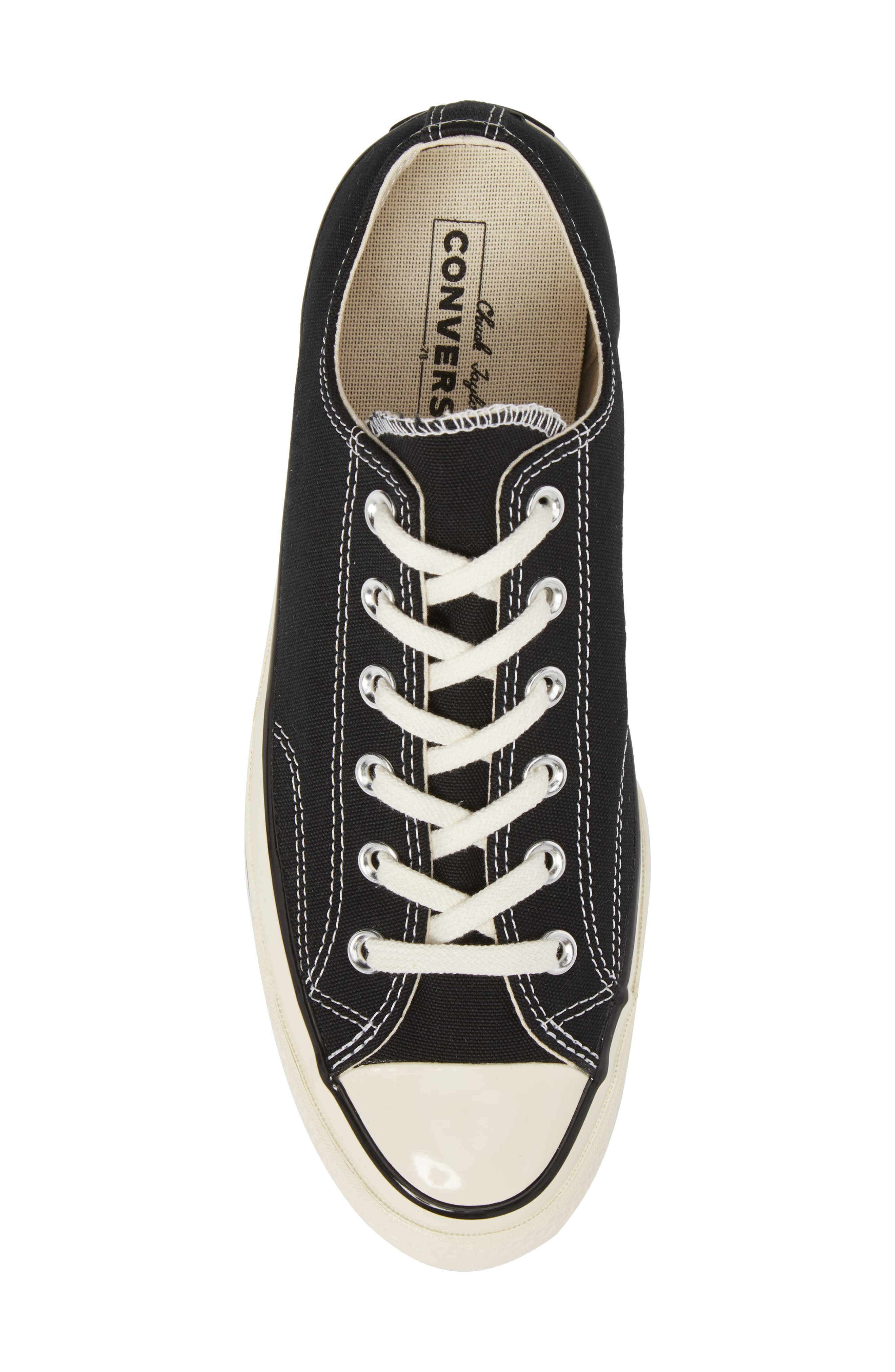 Chuck Taylor<sup>®</sup> All Star<sup>®</sup> 70 Low Top Sneaker,                             Alternate thumbnail 5, color,                             BLACK