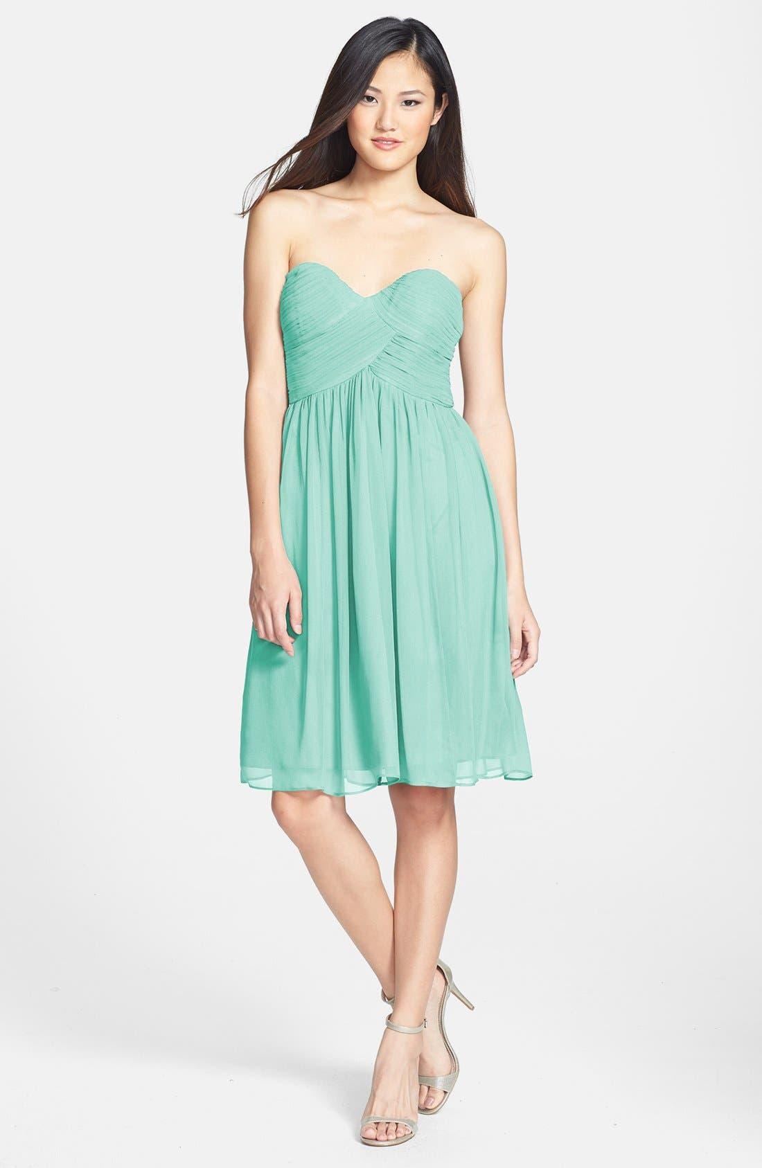 'Morgan' Strapless Silk Chiffon Dress,                             Alternate thumbnail 47, color,