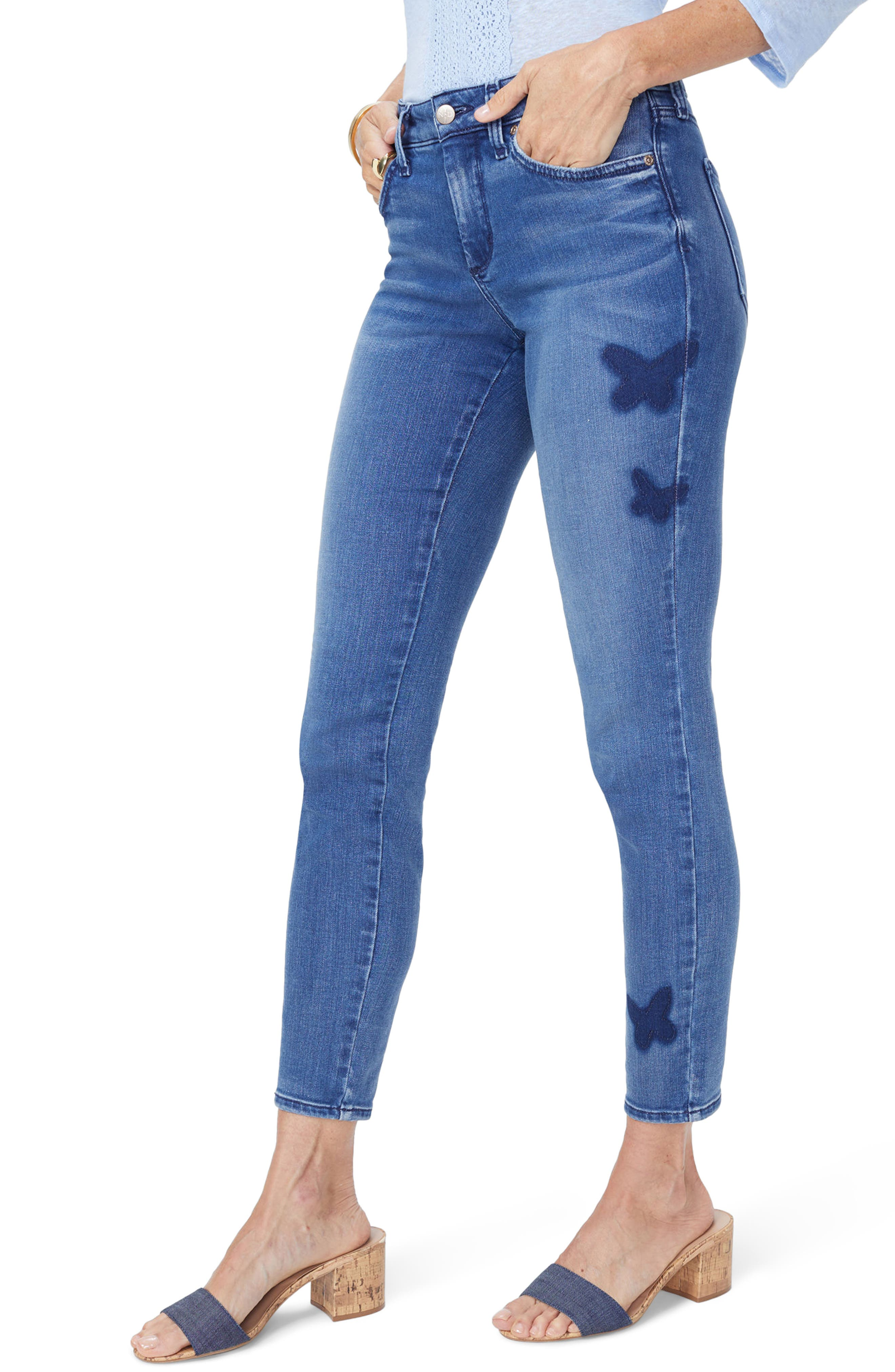 Ami Butterfly Skinny Jeans,                         Main,                         color,