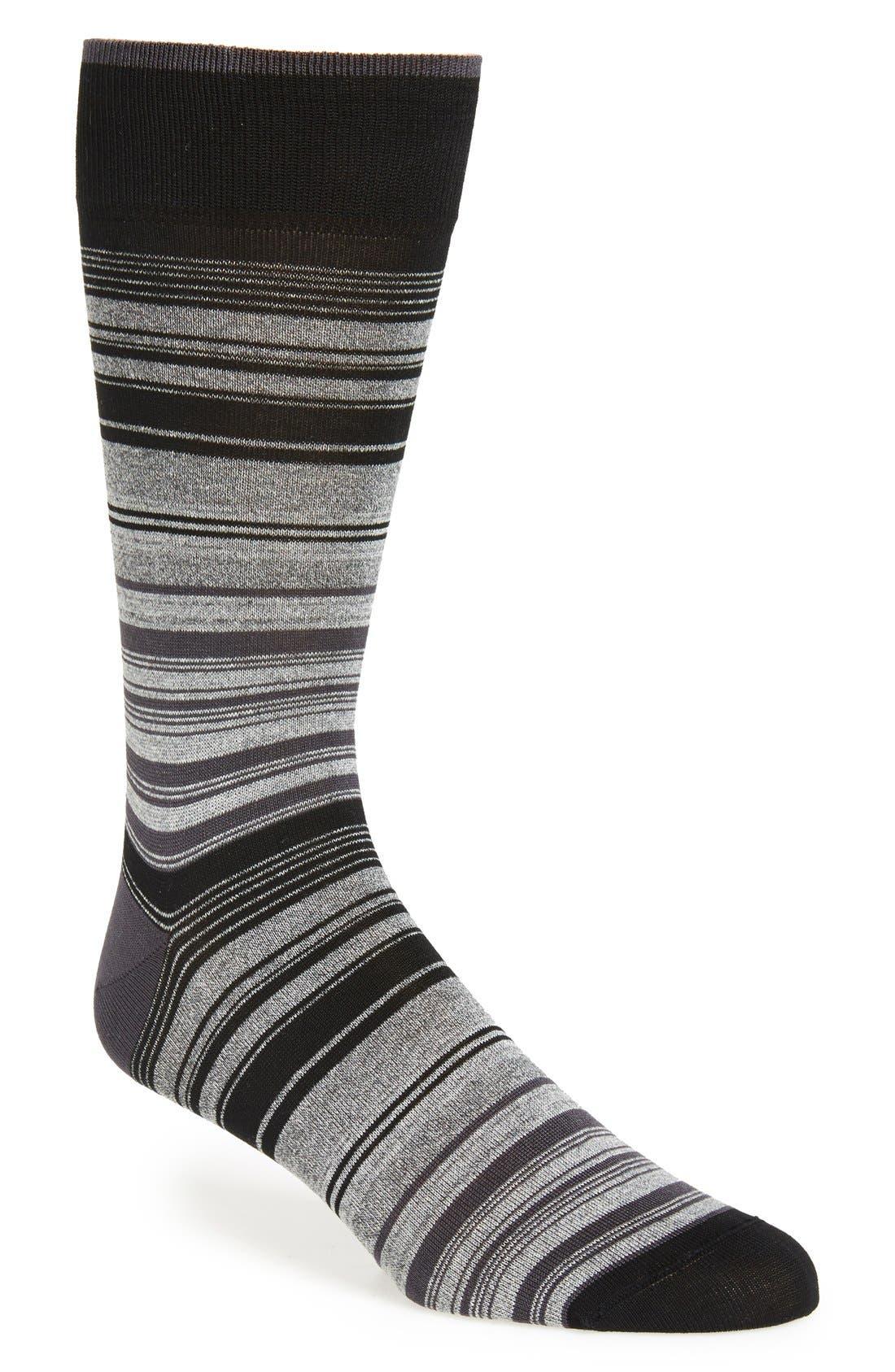 Mercerized Cotton Blend Socks,                         Main,                         color, 001