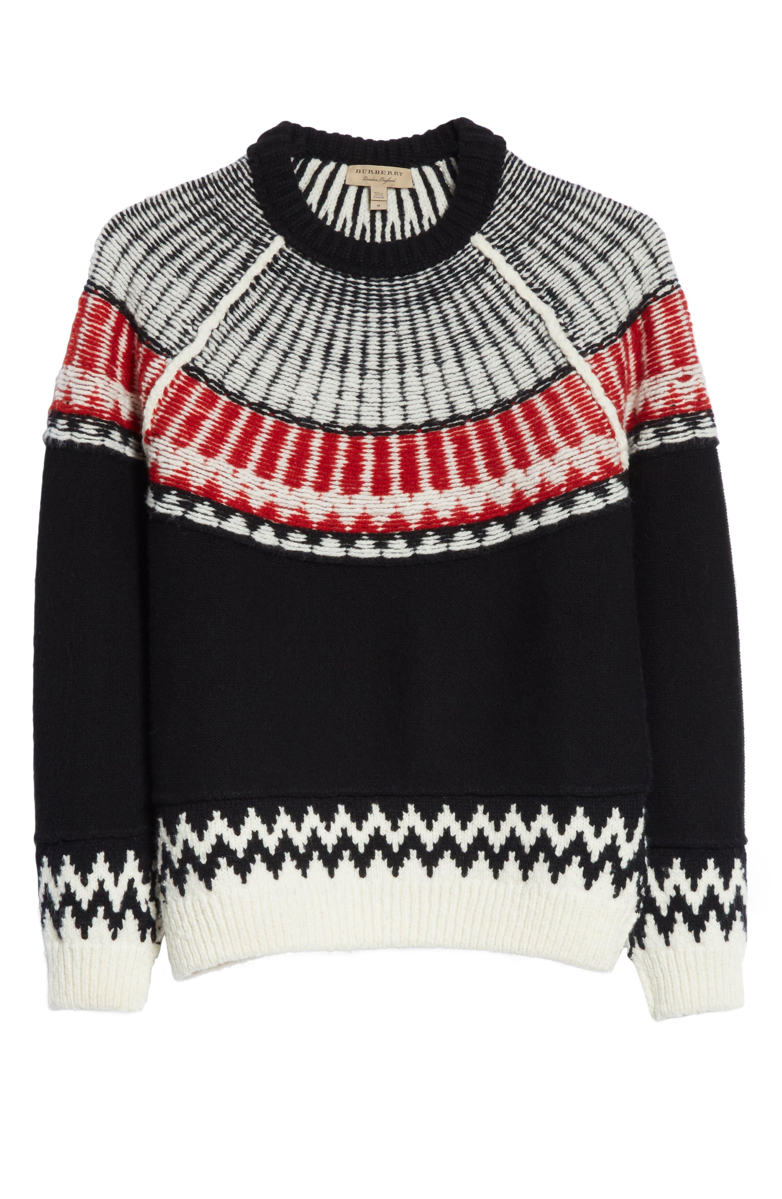 Rycroft Wool & Cashmere Blend Sweater,                             Alternate thumbnail 6, color,                             001