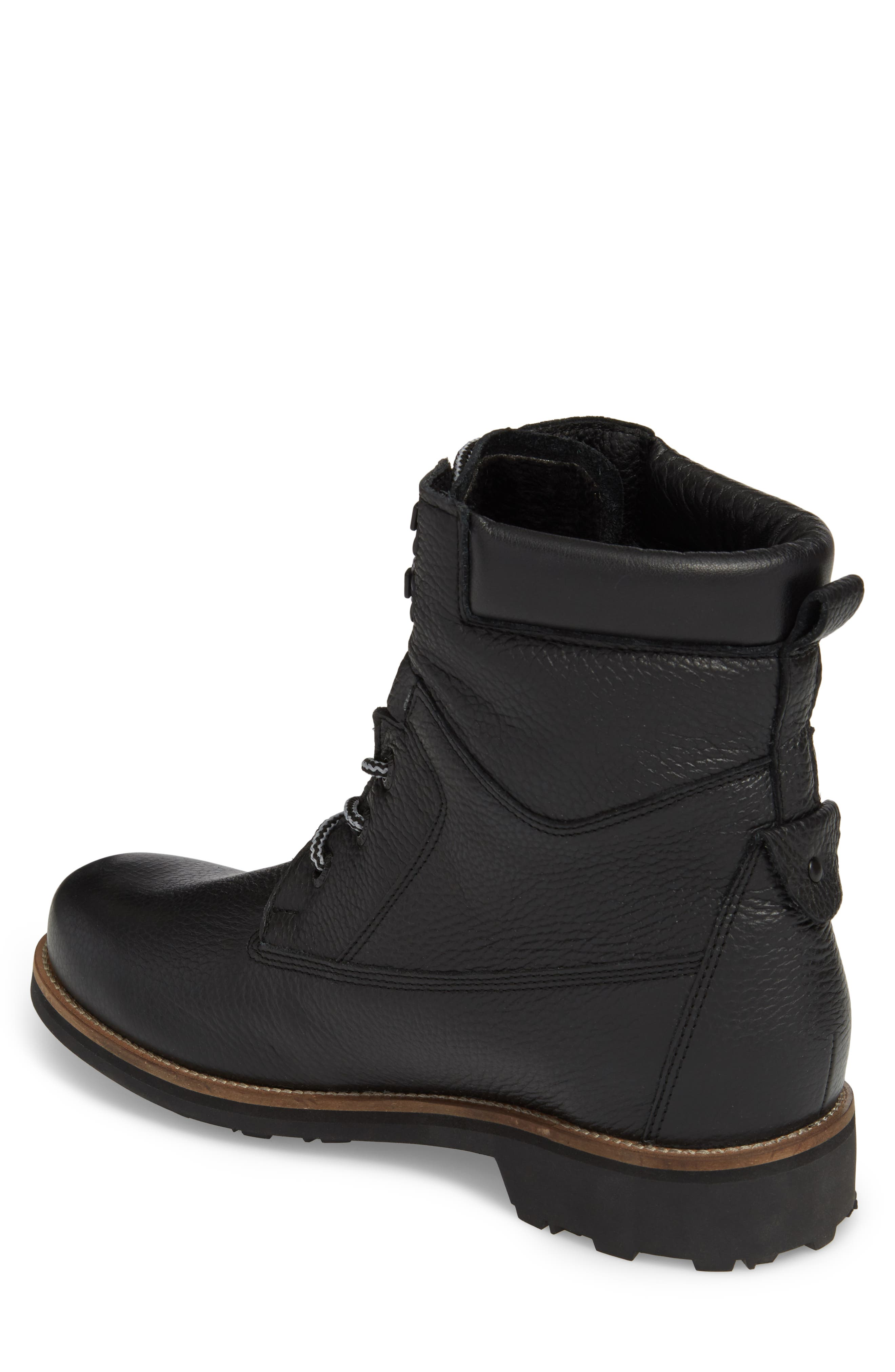 PAJAR,                             David Plain Toe Waterproof Boot,                             Alternate thumbnail 2, color,                             BLACK LEATHER