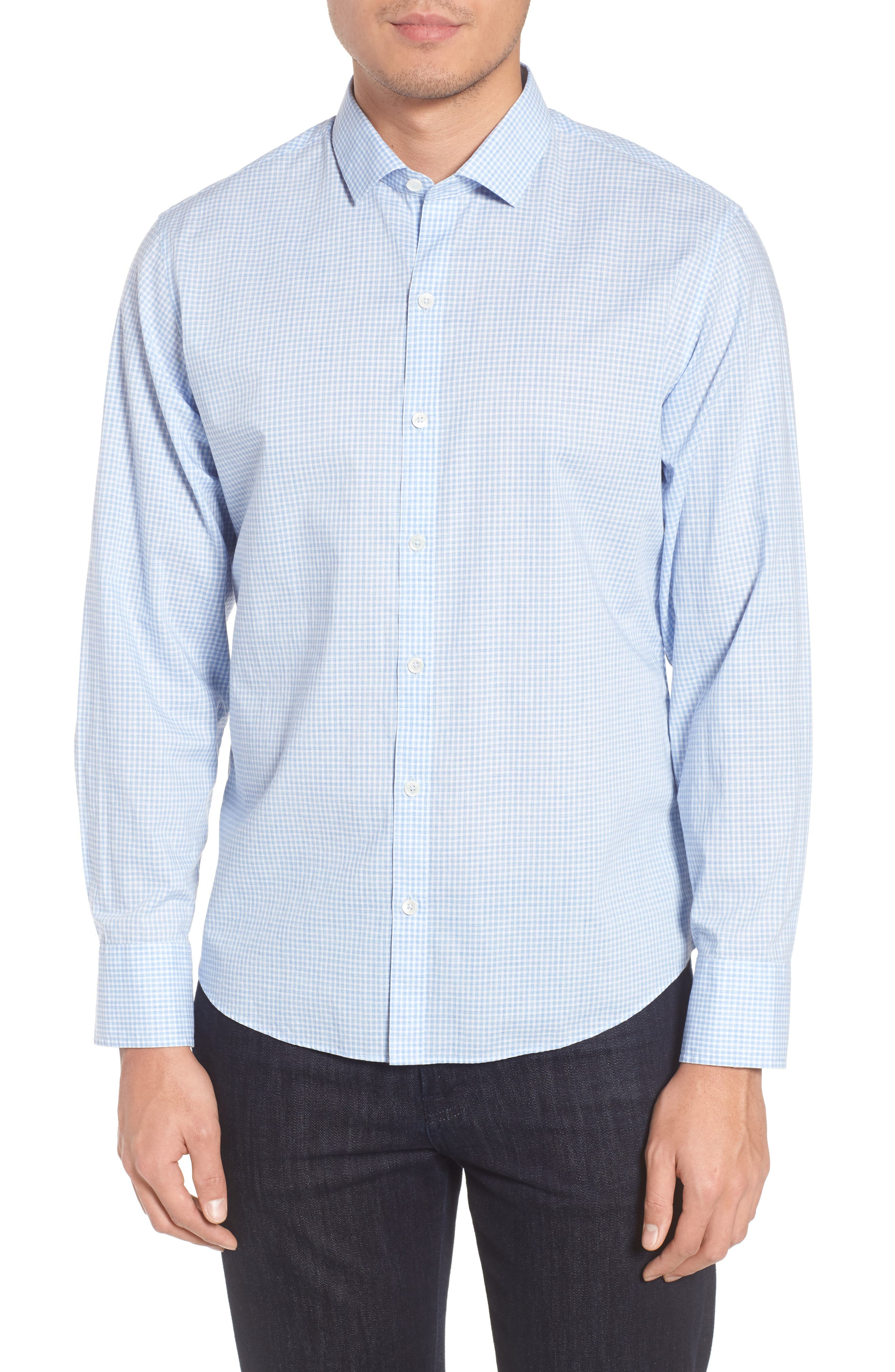 McGarry Gingham Sport Shirt,                             Main thumbnail 1, color,                             450