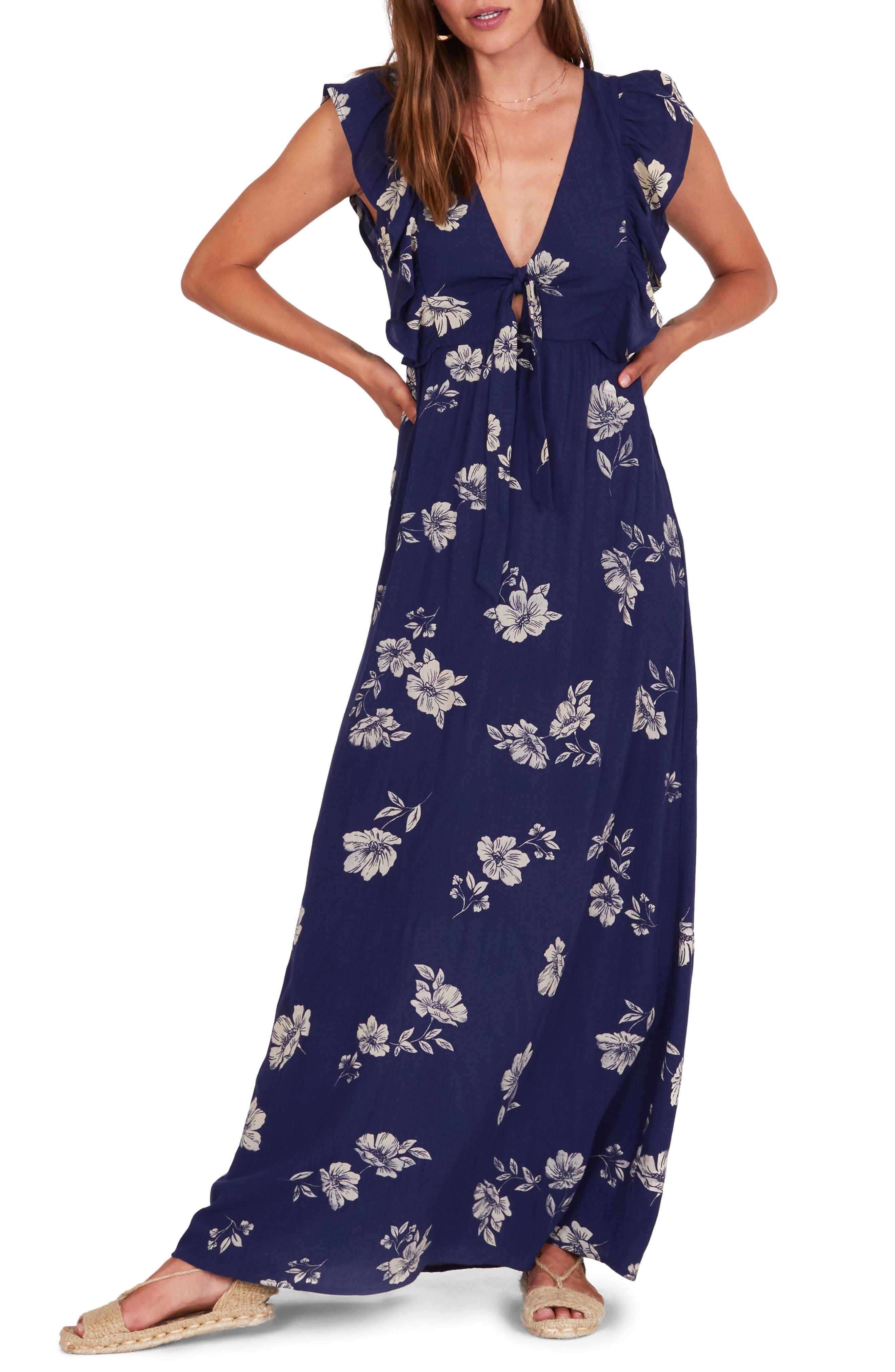 Amuse Society Carolina Maxi Dress, Blue