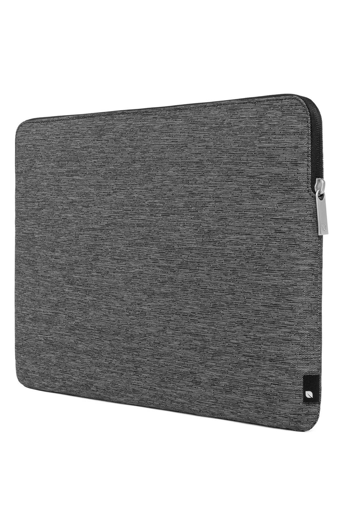 MacBook Air Sleeve,                         Main,                         color, HEATHER  BLACK