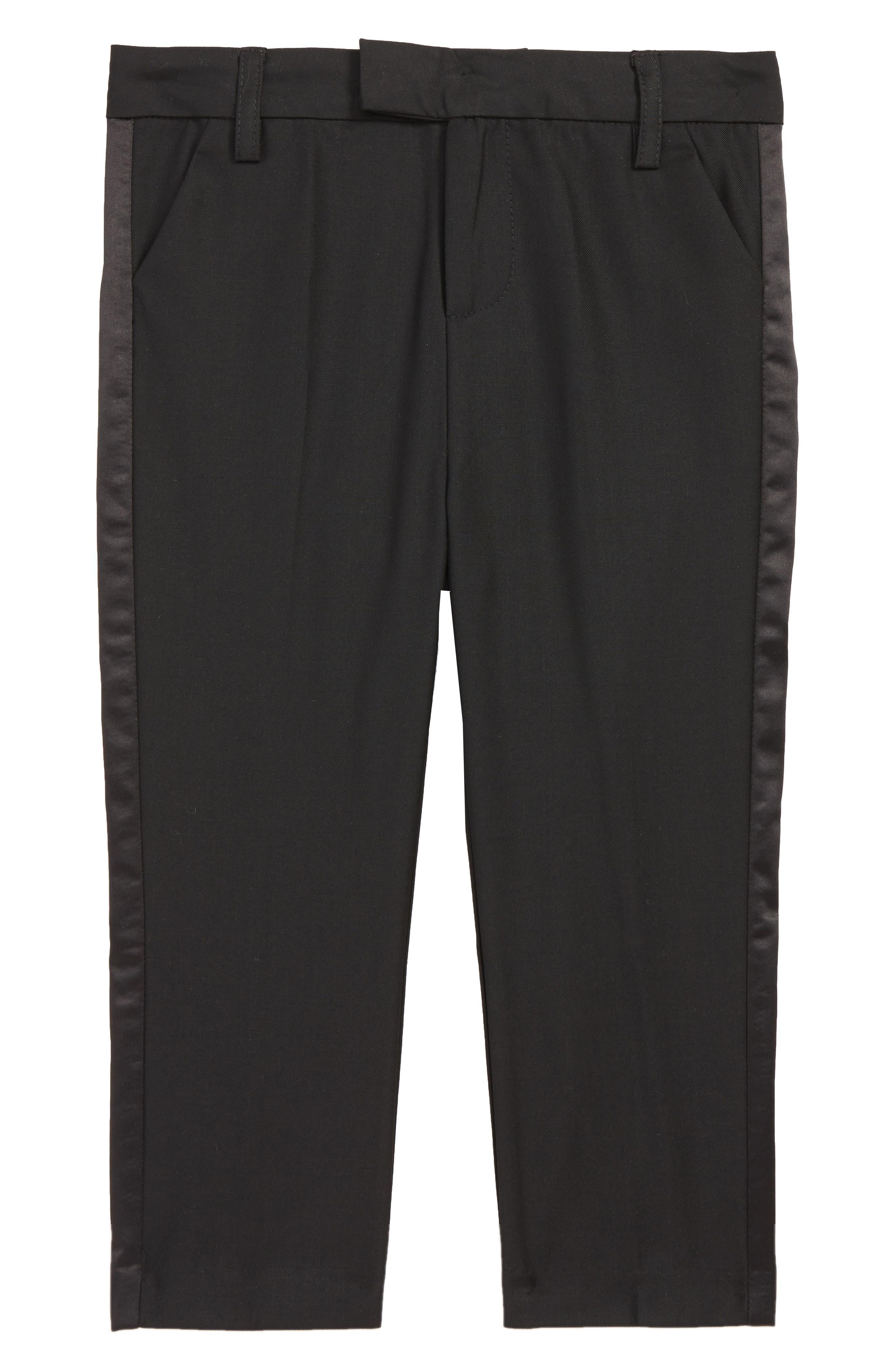 Tuxedo Pants,                         Main,                         color, JET BLACK