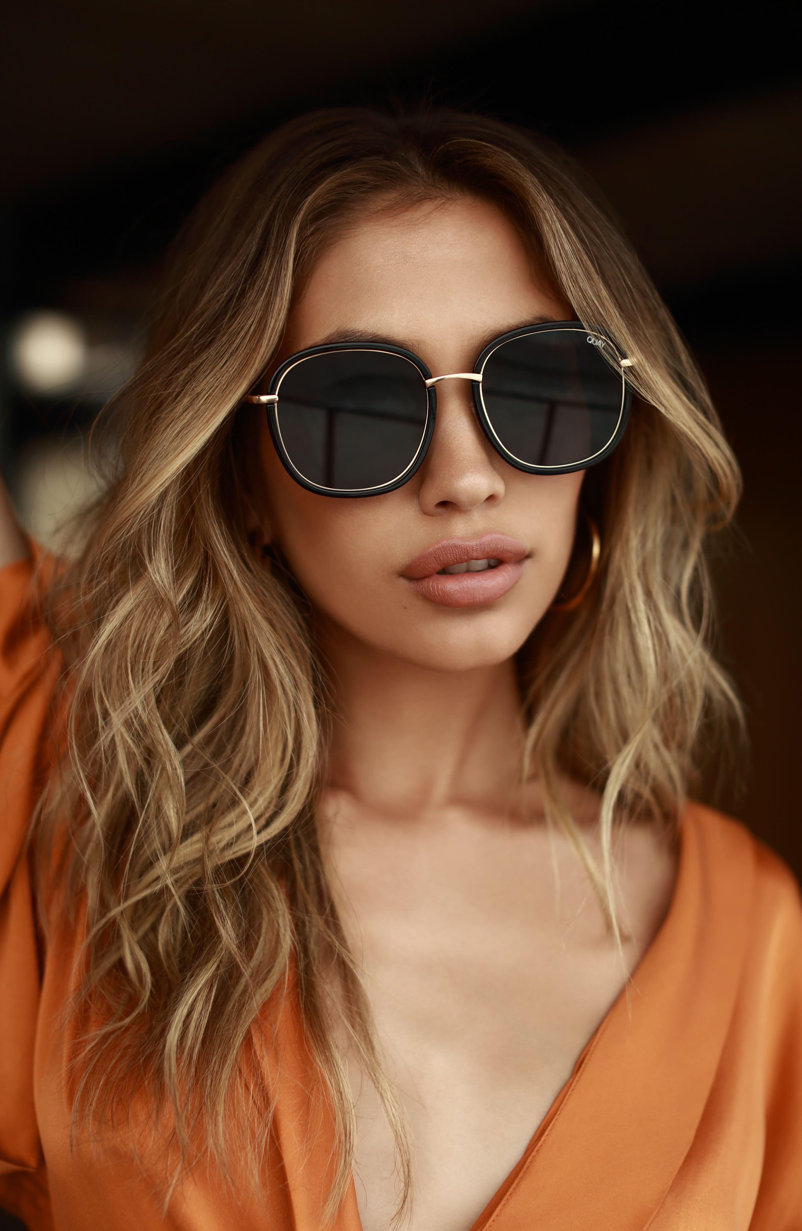 Dreamy Ways 57mm Rectangular Sunglasses,                             Alternate thumbnail 11, color,